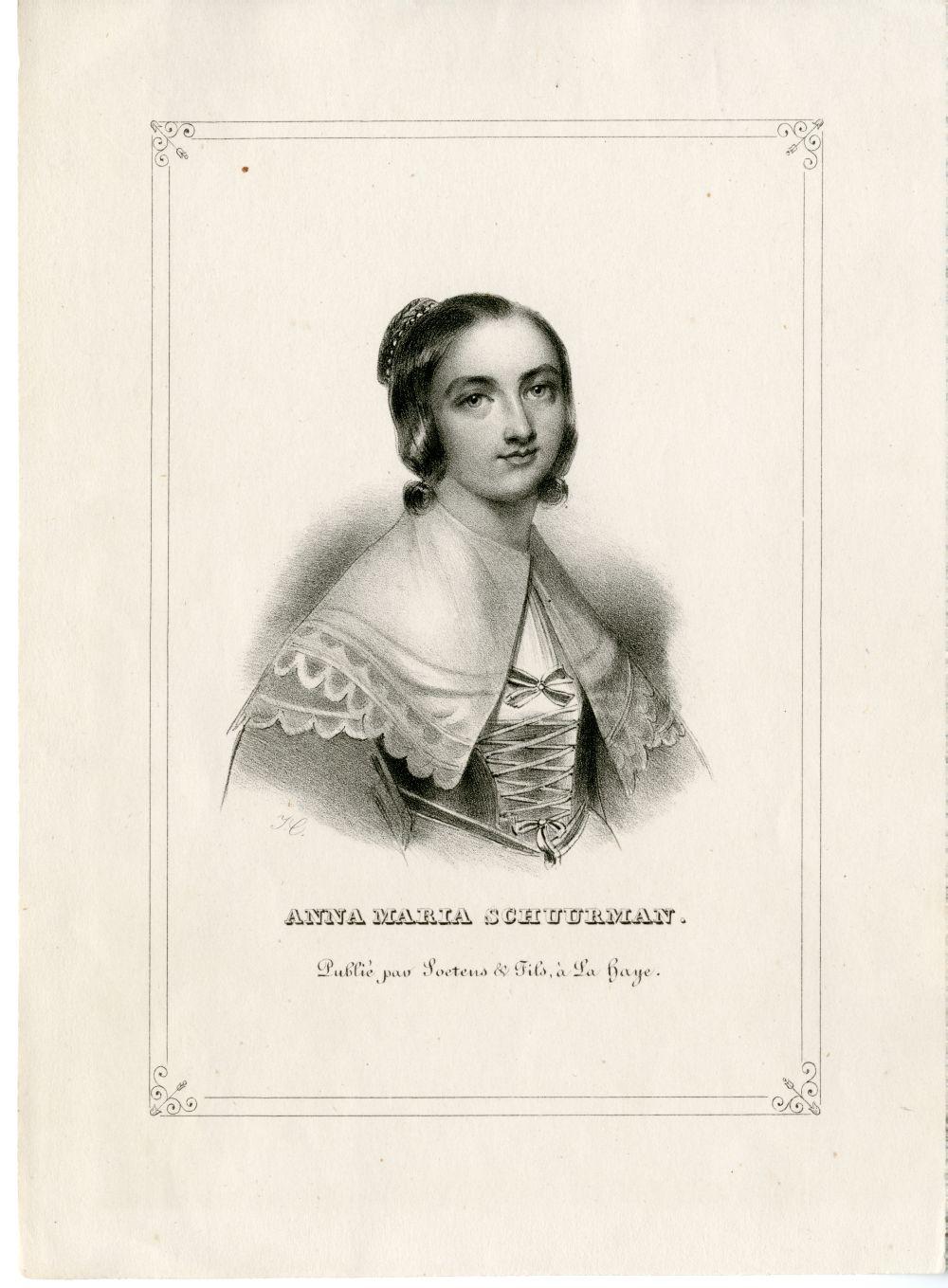 Portretgravure van Anna Maria van Schurman