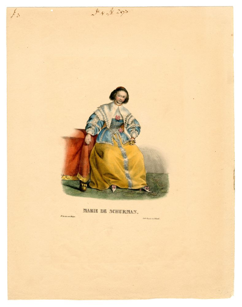 Lithografie van Anna Maria van Schurman