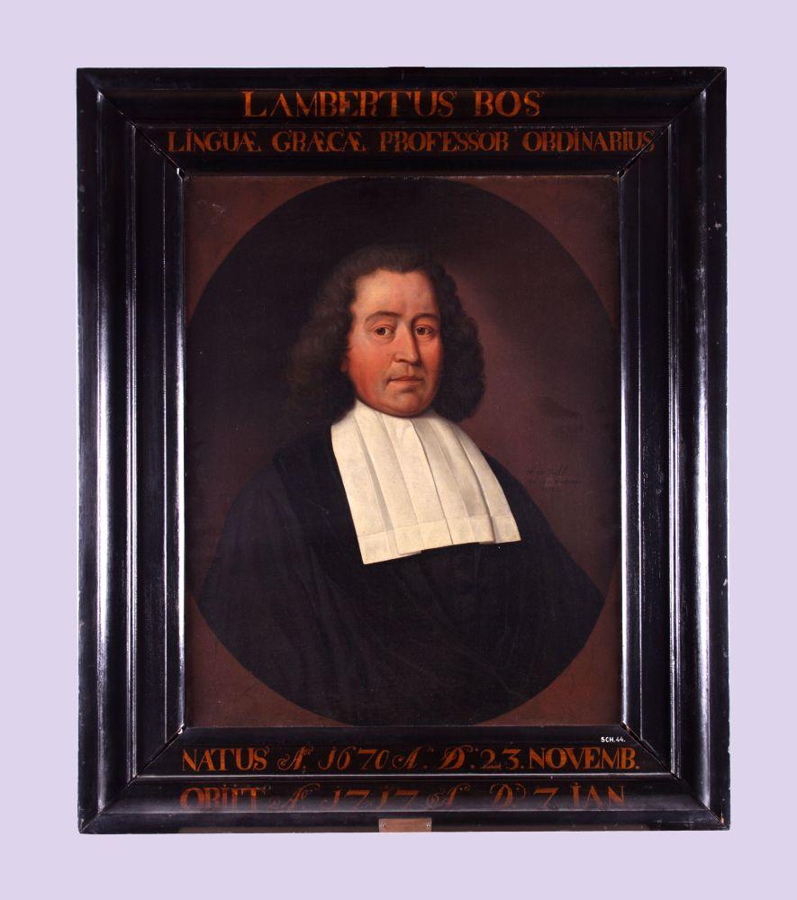 Portret van Lambertus Bos door Hendrick de Valk