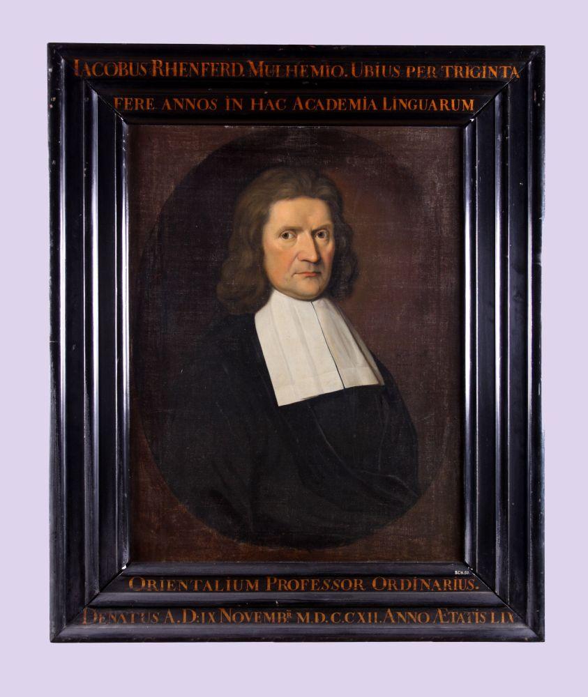 Portret van Jacobus Rhenferd door Hendrick de Valk