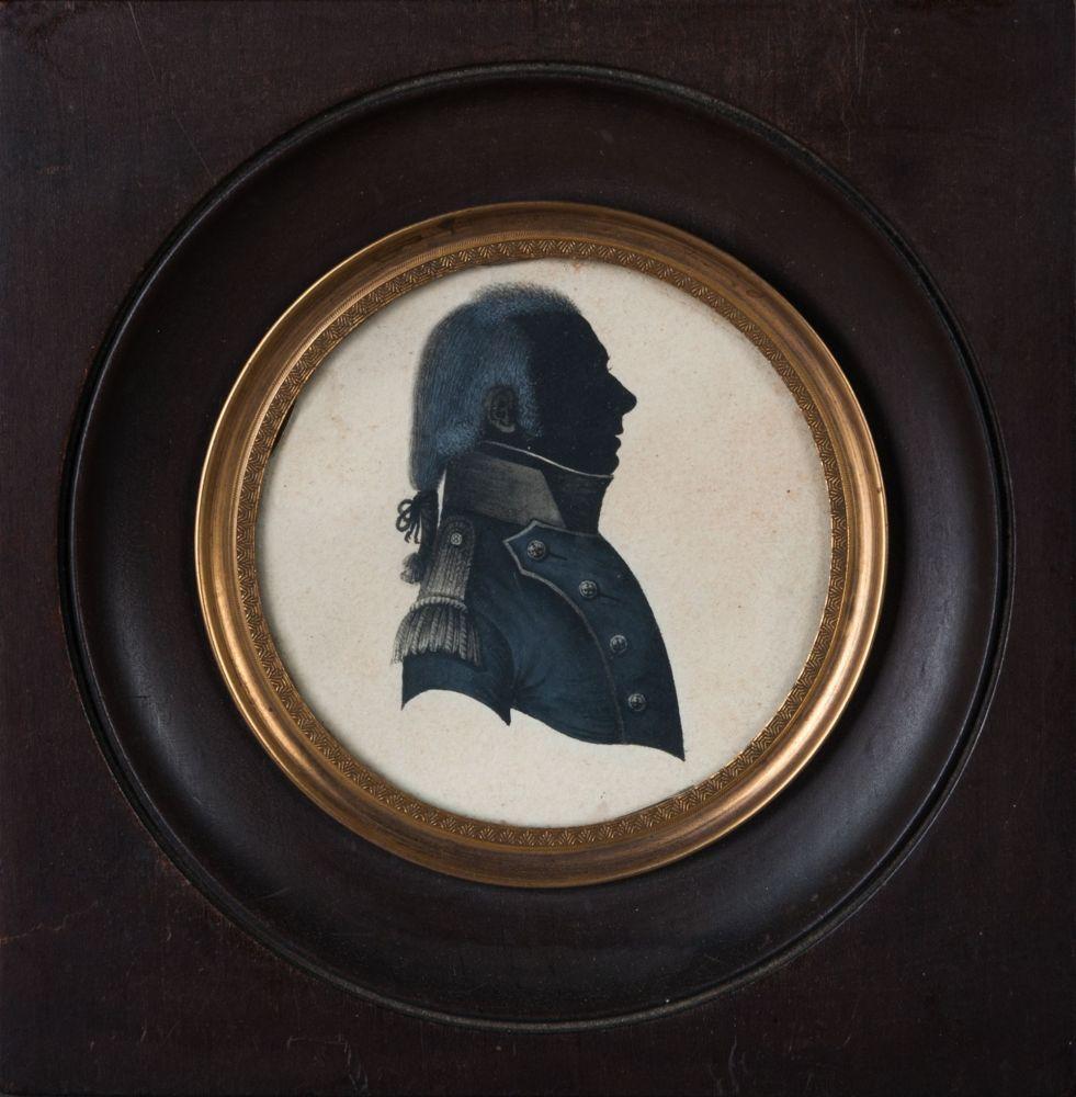 Gouacheportret van een man
