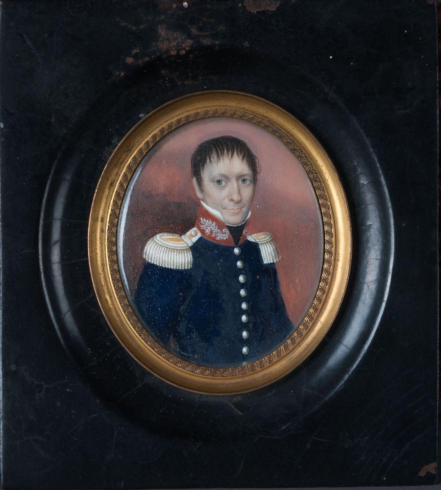 Gouacheportret van Otto Johannes Romar