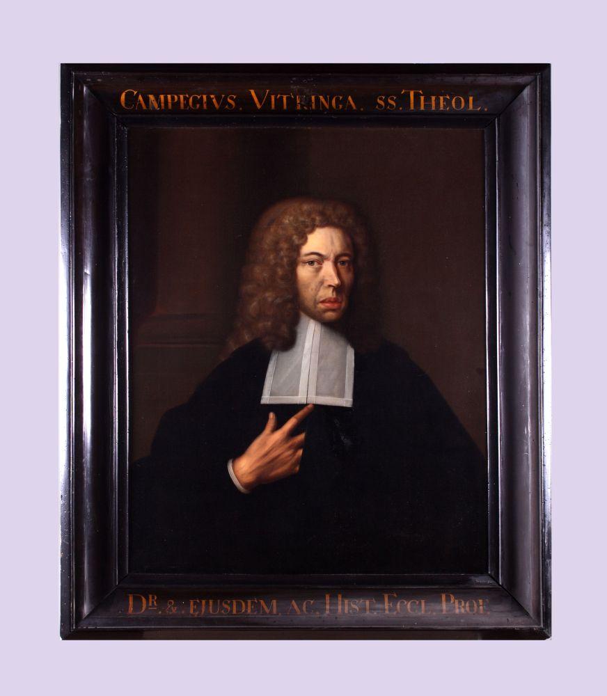 Portret van Campegius Vitringa sr. door Bernardus Accama