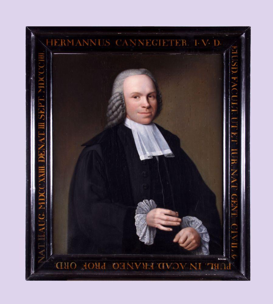 Portret van Hermannus Cannegieter door Dirk Ploegsma