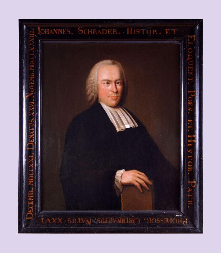 Portret van Johannes Schrader door Dirk Jacobs Ploegsma