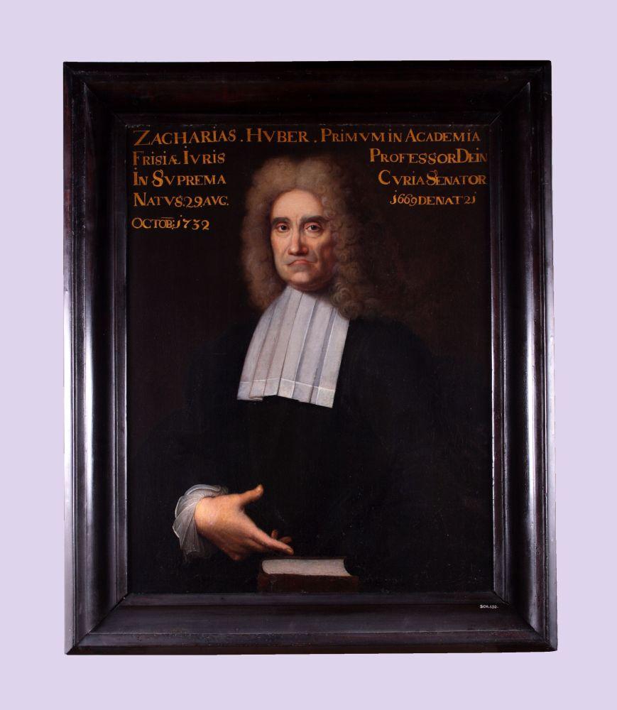 Portret van Zacharias Huber door Bernardus Accama