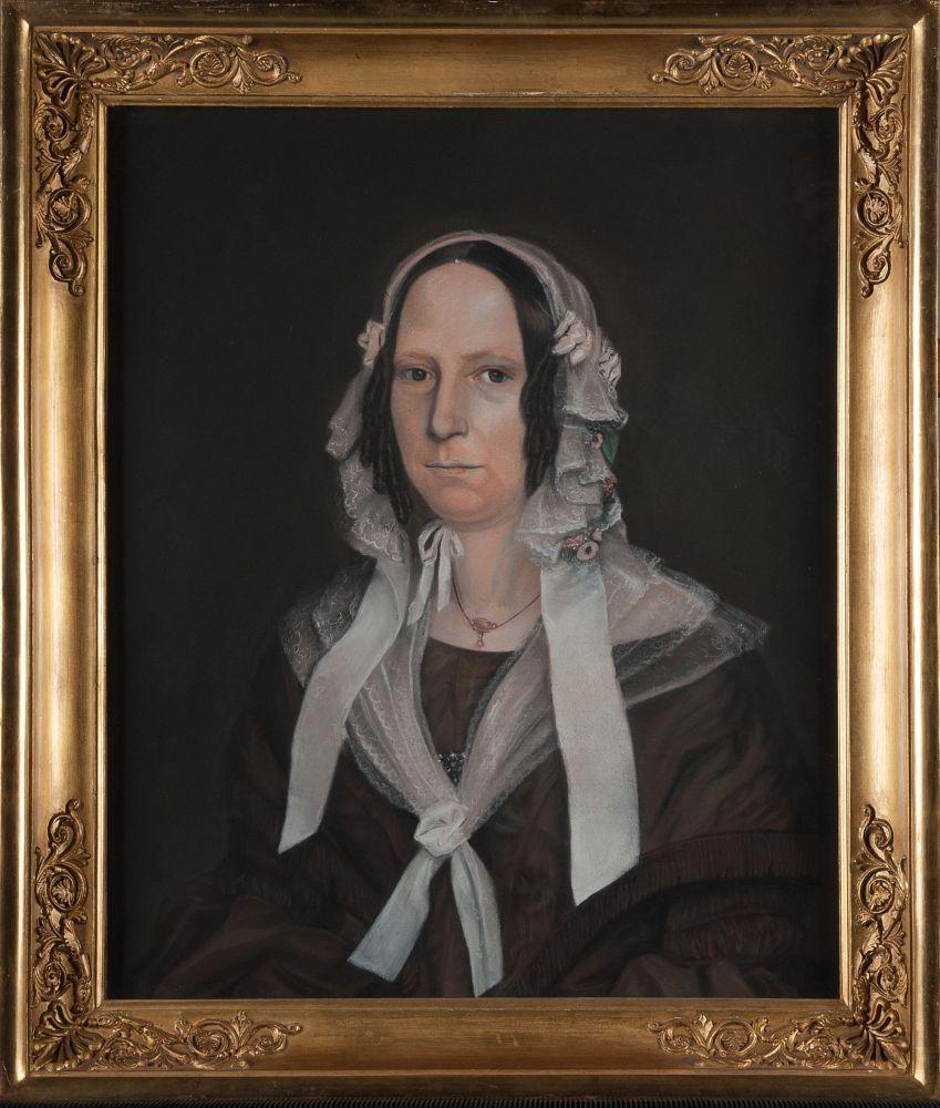 Portret van Hendrika Wiersma door A. de Grient Dreux