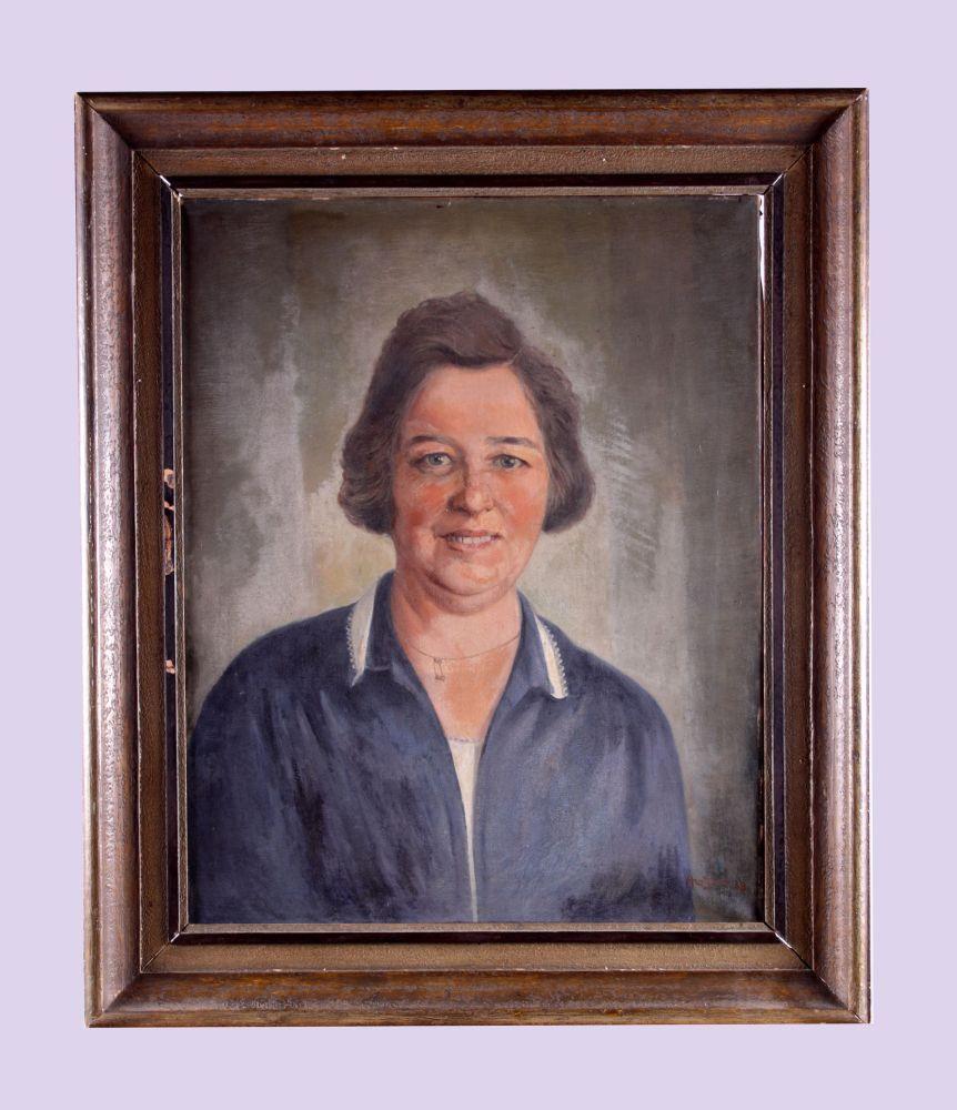 Portret van een vrouw door Andries van der Sloot