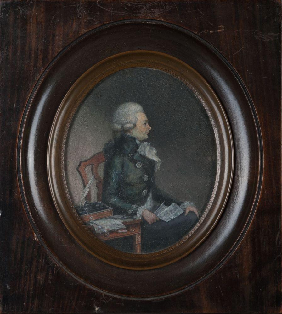 Gouacheportret van Jan Scheltema