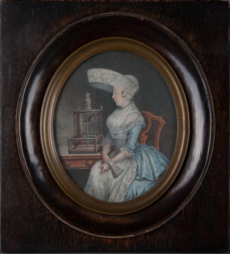 Gouacheportret van Margaretha Hajonides