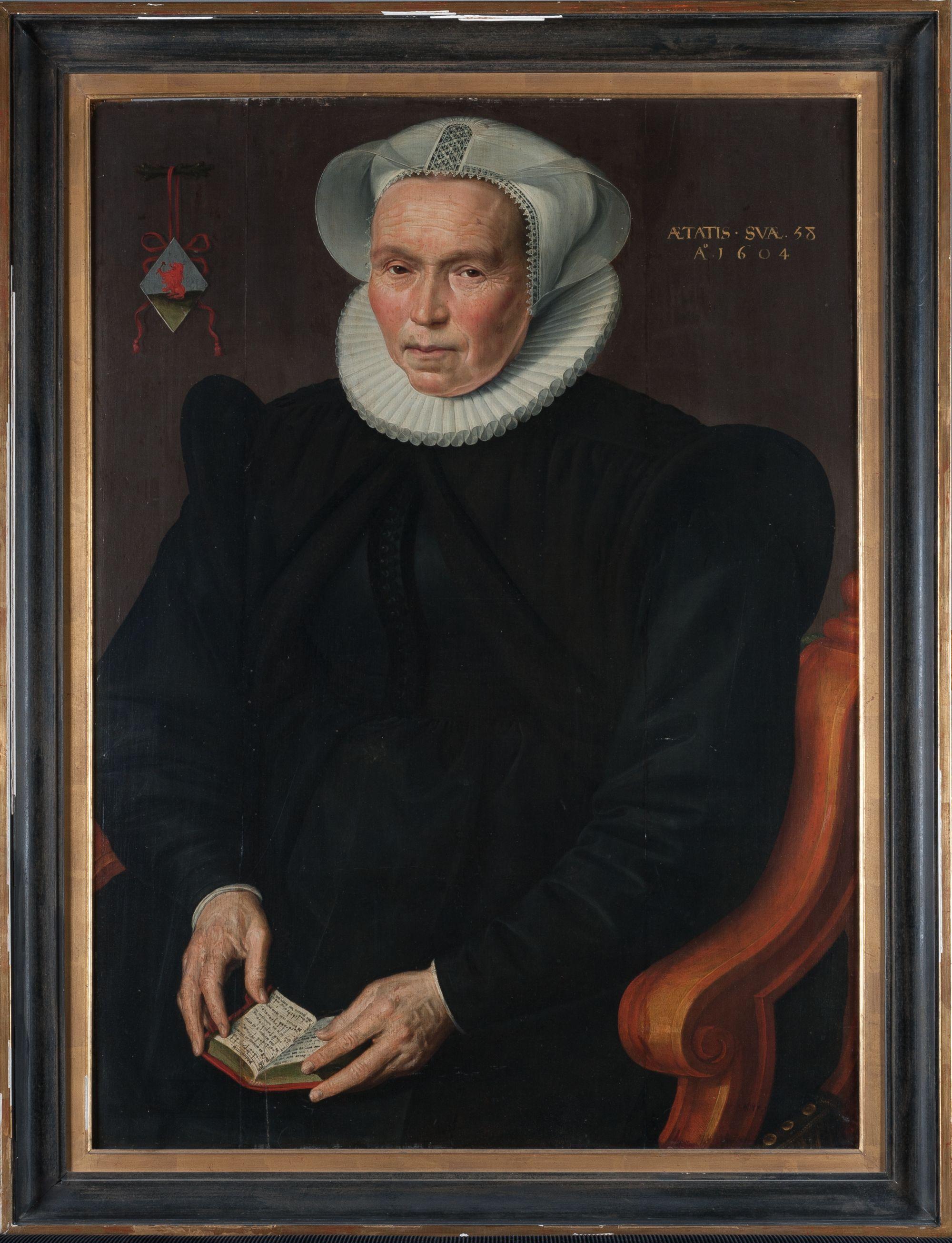 Portret van Ludovica Wijncoop