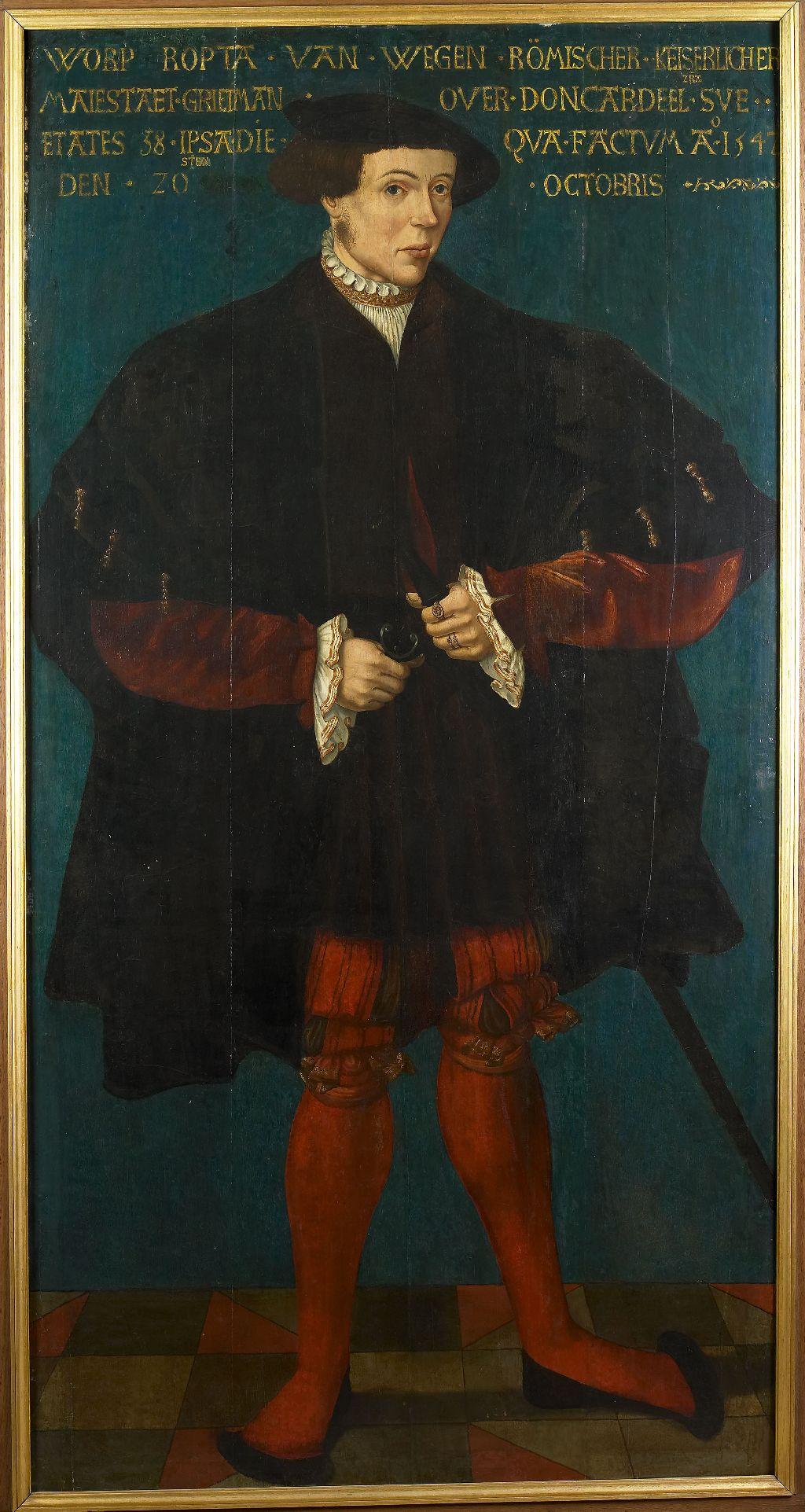 Portret ten voeten uit van Worp van Ropta