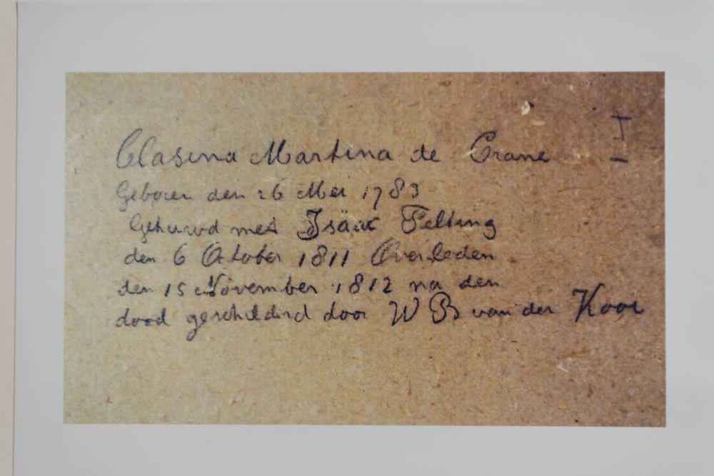 Portret van Clasina de Crane door Willem Bartel van der Kooi