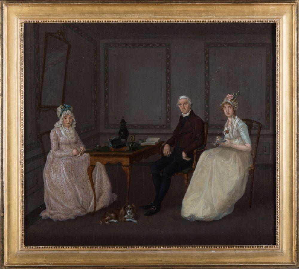 Portret van de familie De Crane