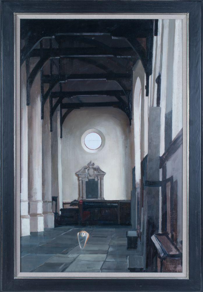 Schilderij met de titel 'Kerk Uil' door Pieter Pander