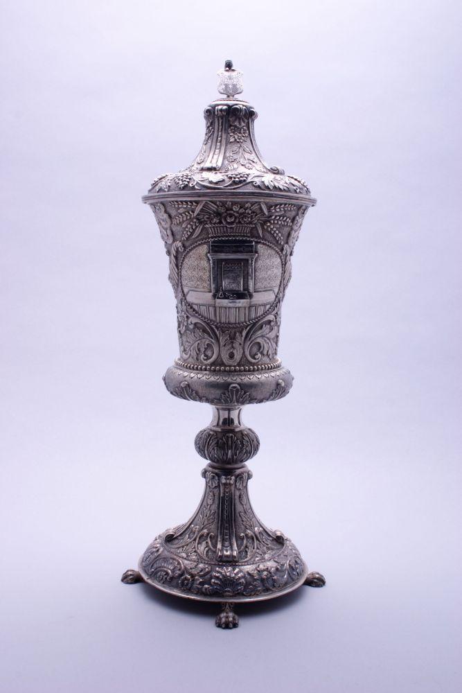 Zilveren dekselbokaal door Van Erp