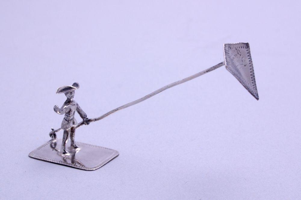 Miniatuur van man met vlieger door Sibout S. Buma