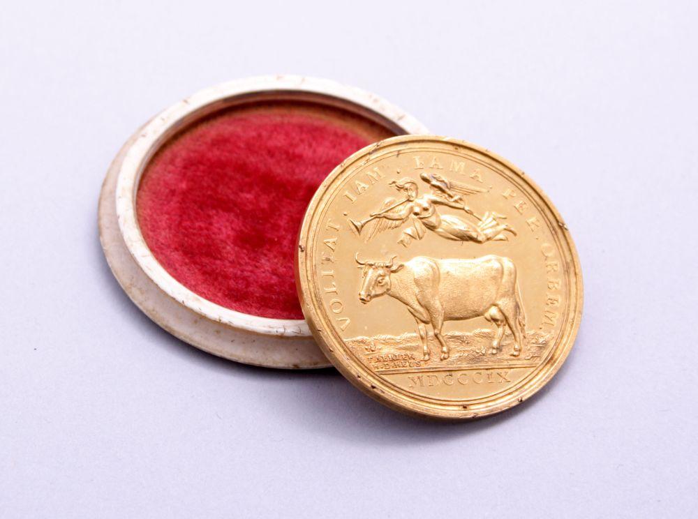 Gouden eremedaille voor Jelle Banga door Fabriek H.D. Heus
