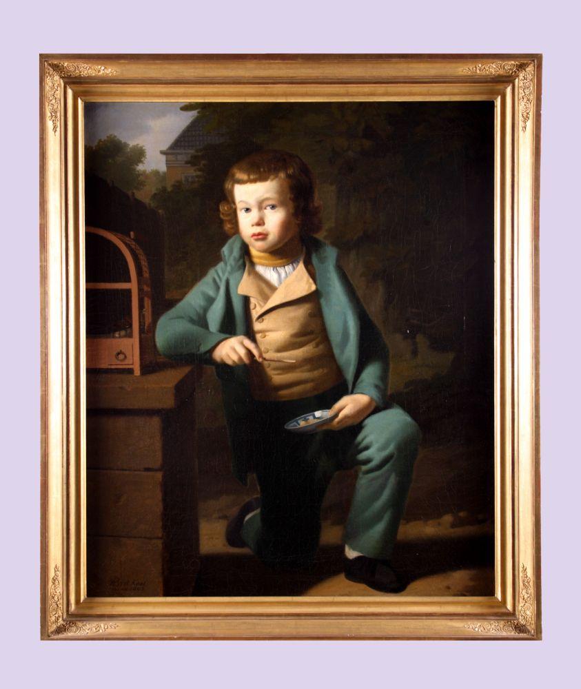Portret van Nicolaas Pierson Tholen door Willem Bartel van der Kooi