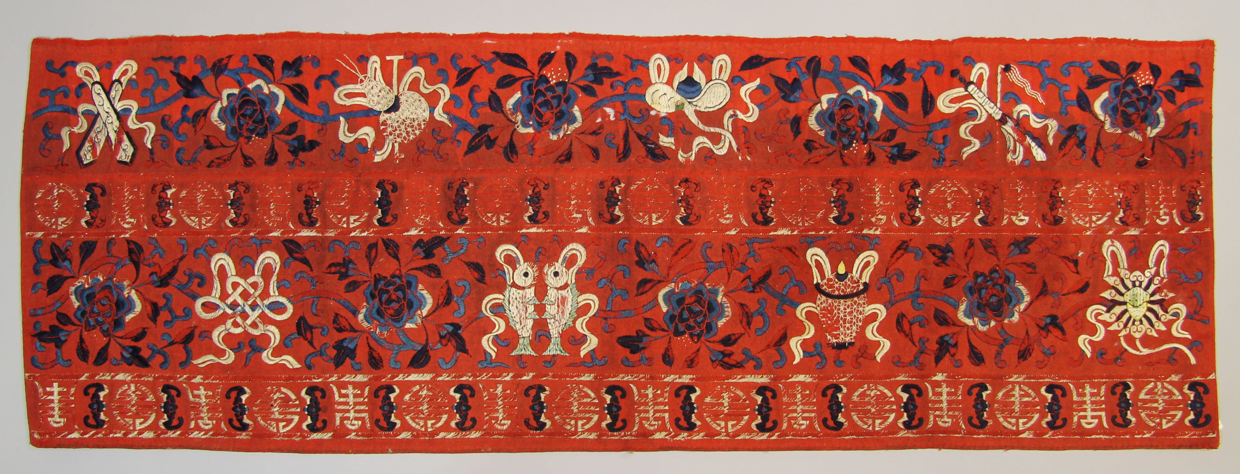 Embroidered Panel with Taoist Symbols