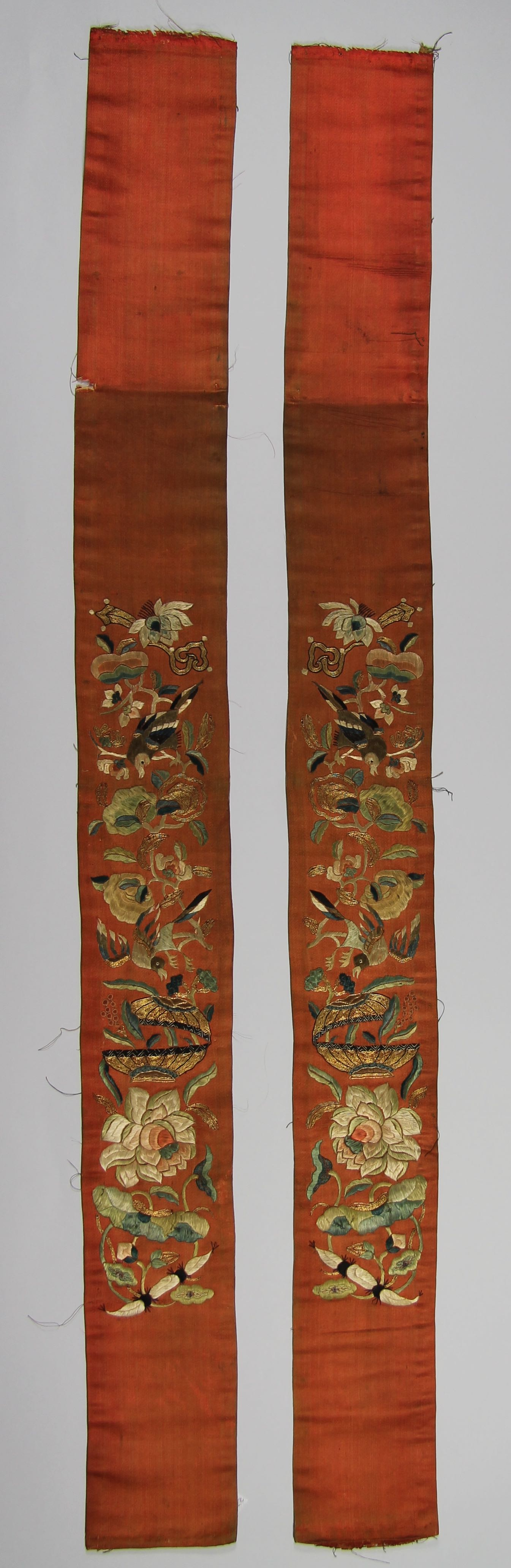 Pair of silk sleeve bands