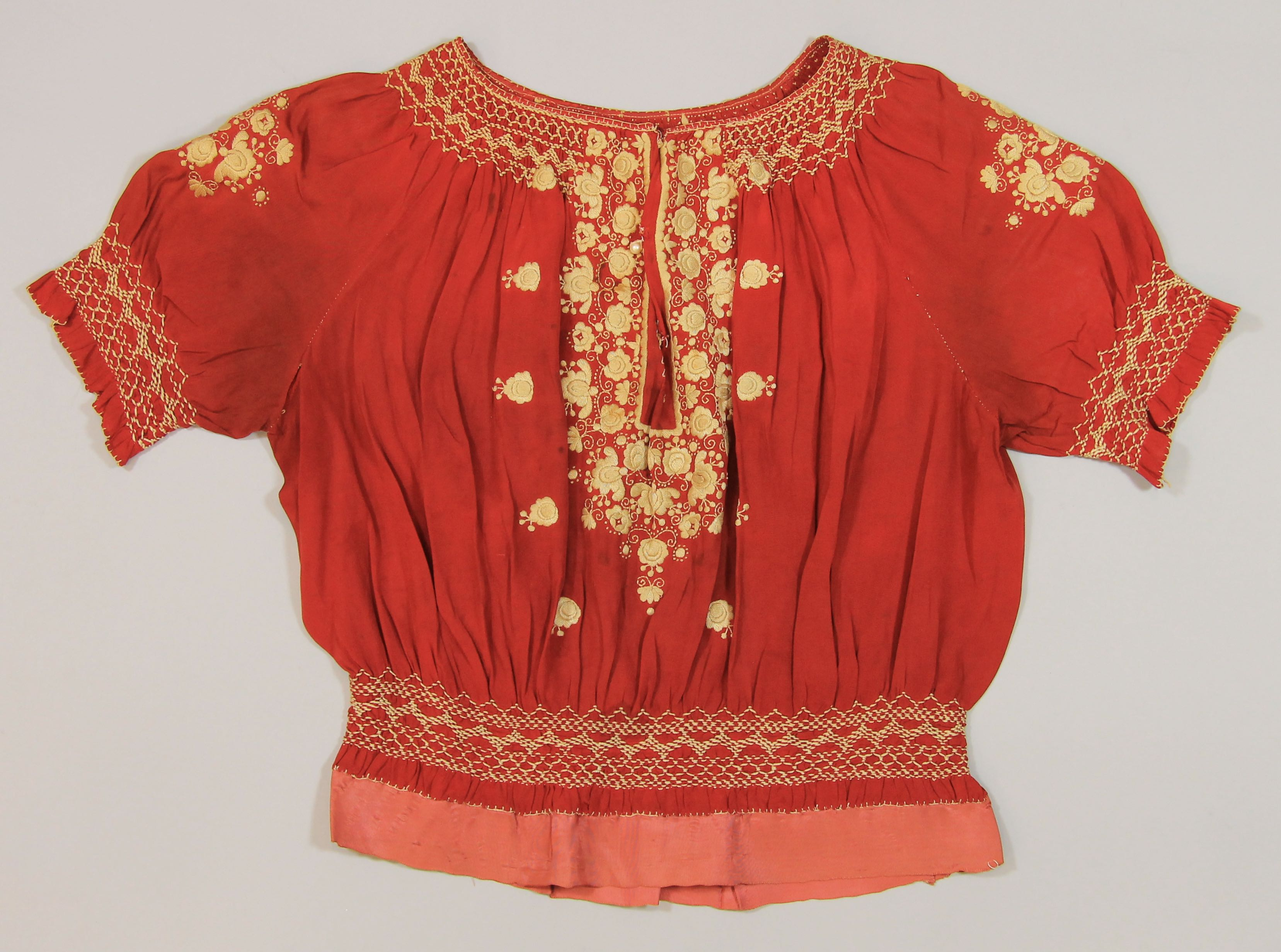 Woman's red blouse