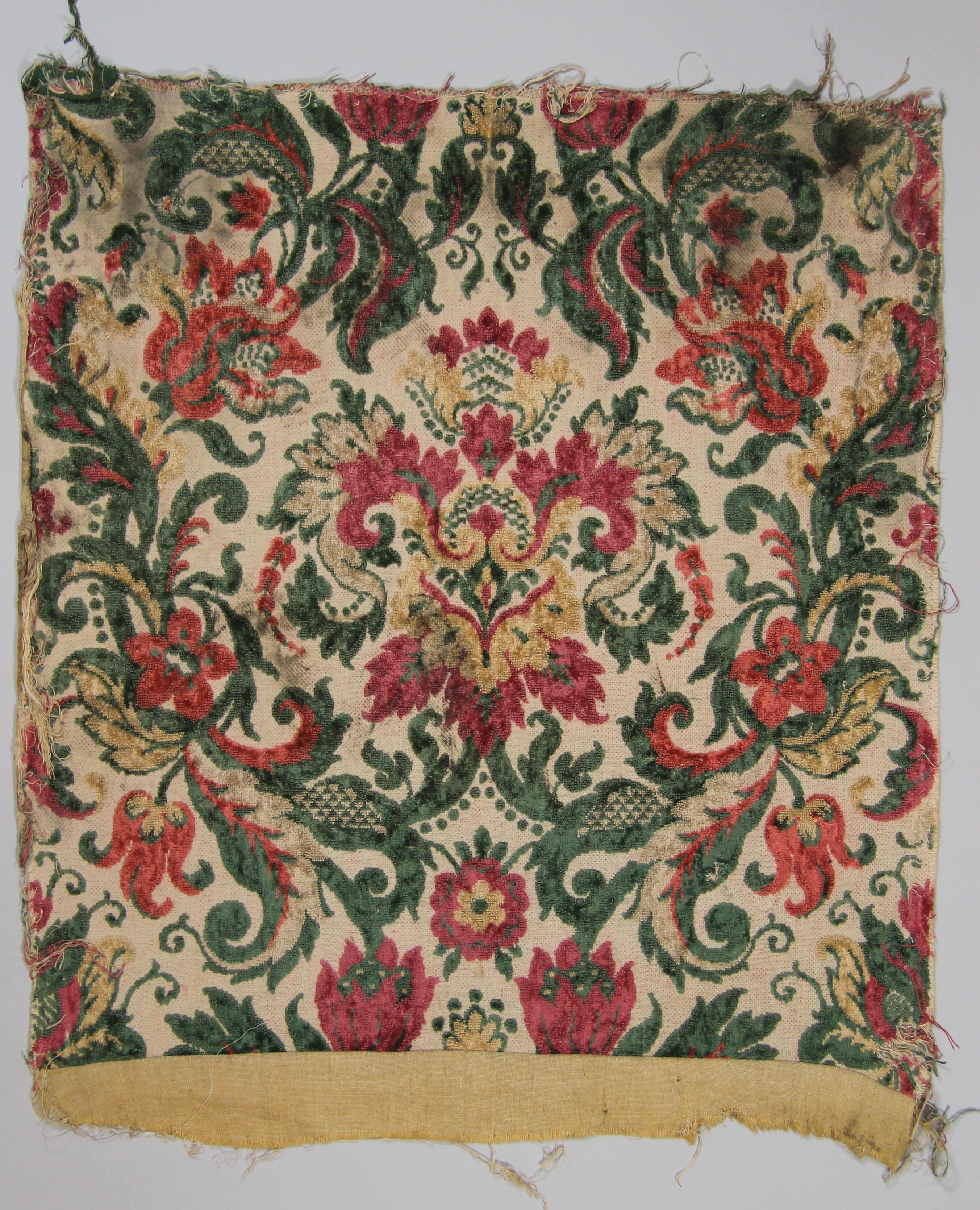 Cotton velvet panel (fragment)