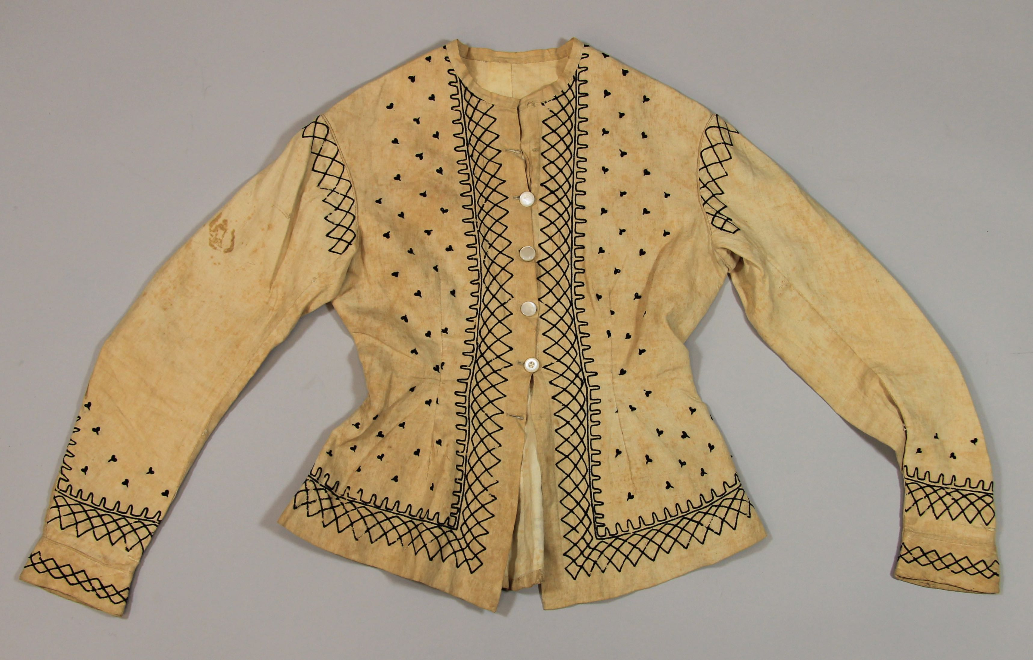 Tailored jacket (underjacket? bodice? camisia?)