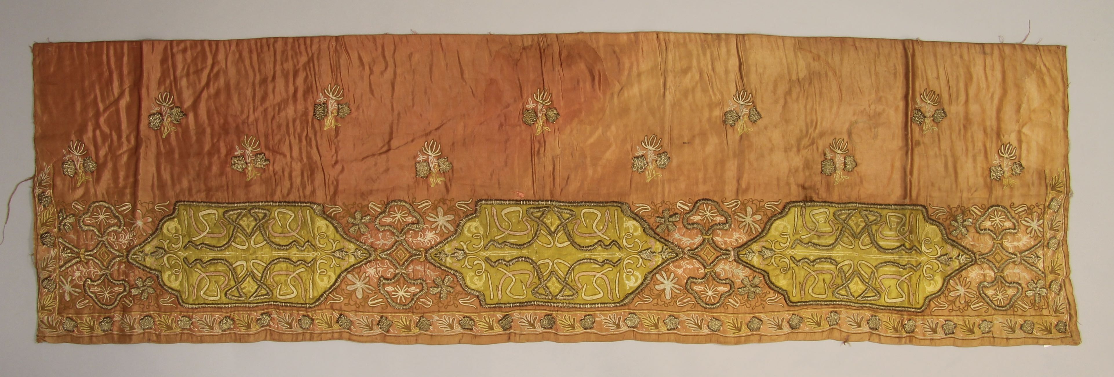 Embroidered panel (valance?)