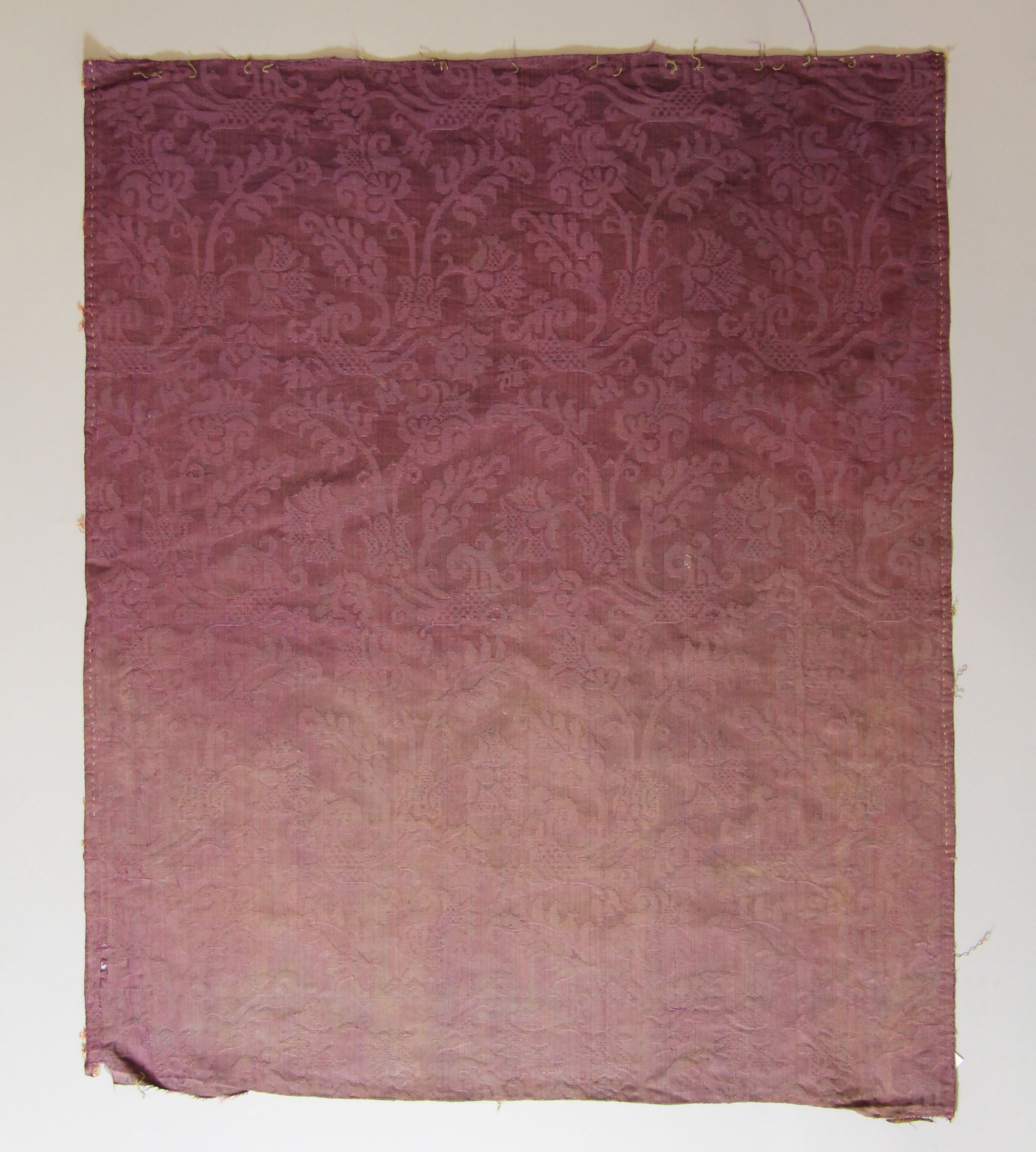 Silk damask panel (fragment)