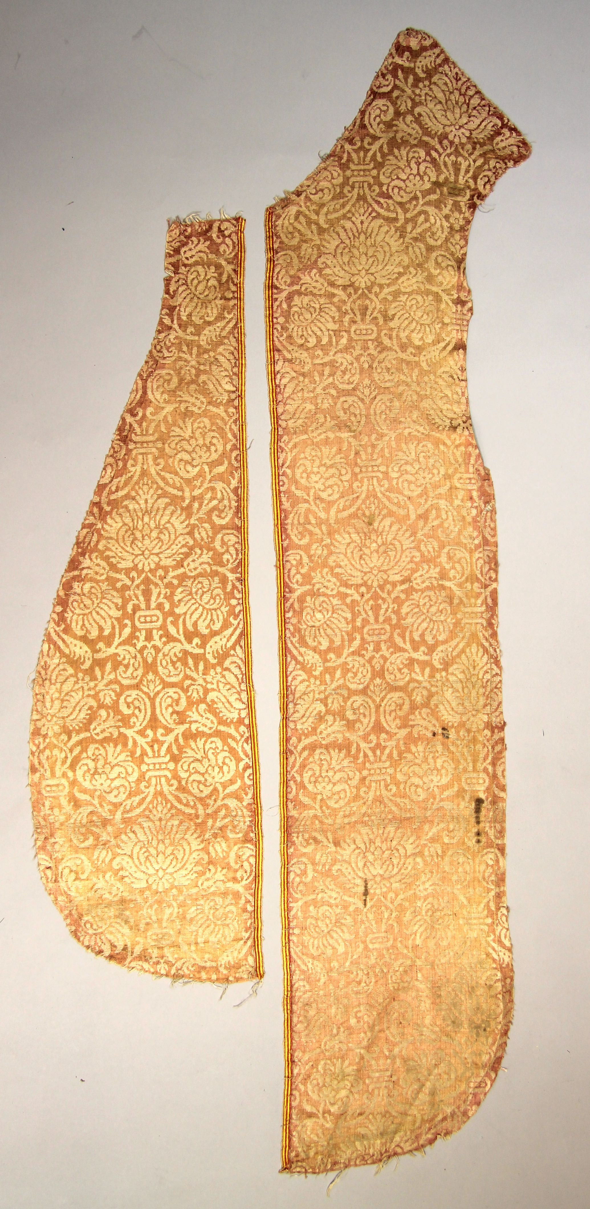 Two matching silk panels from a chasuble (fragment)