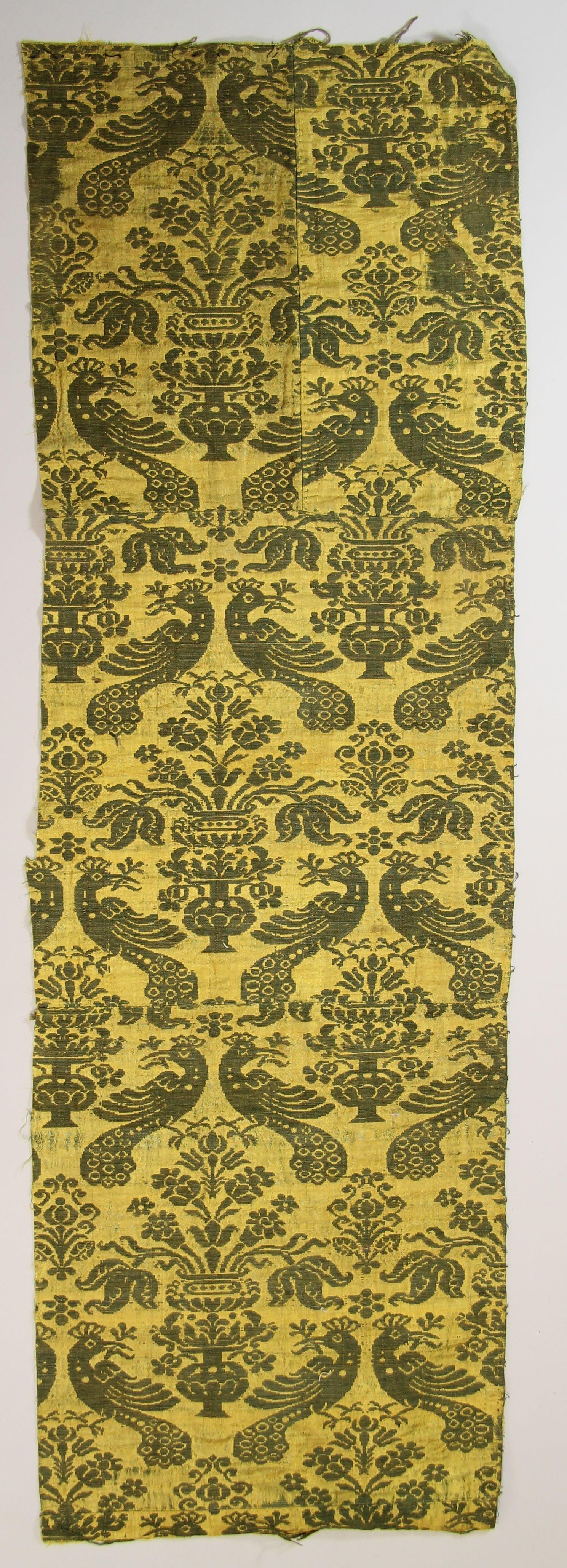 Woven silk panel (5 fragments)