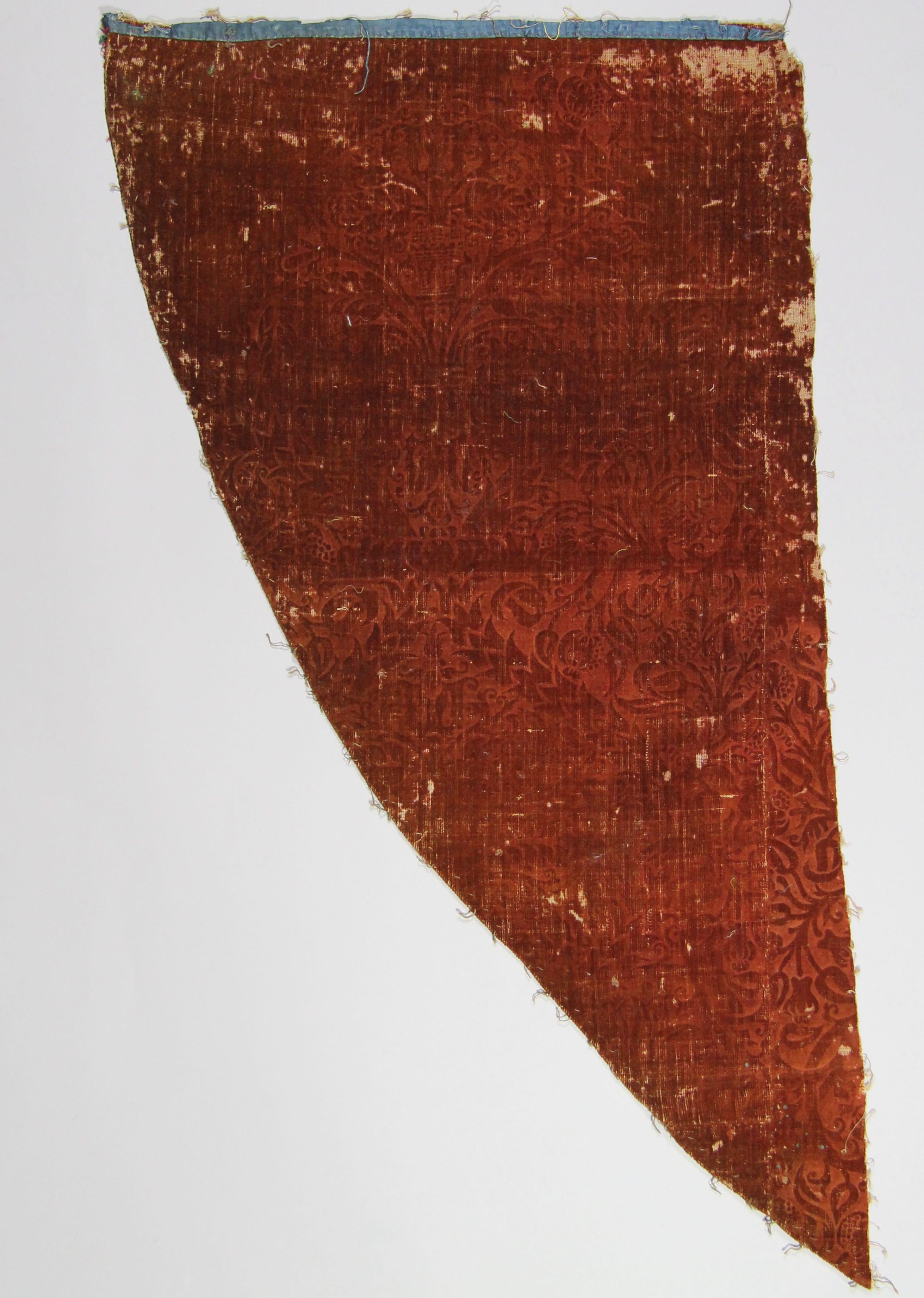 Stamped velvet panel (fragment)
