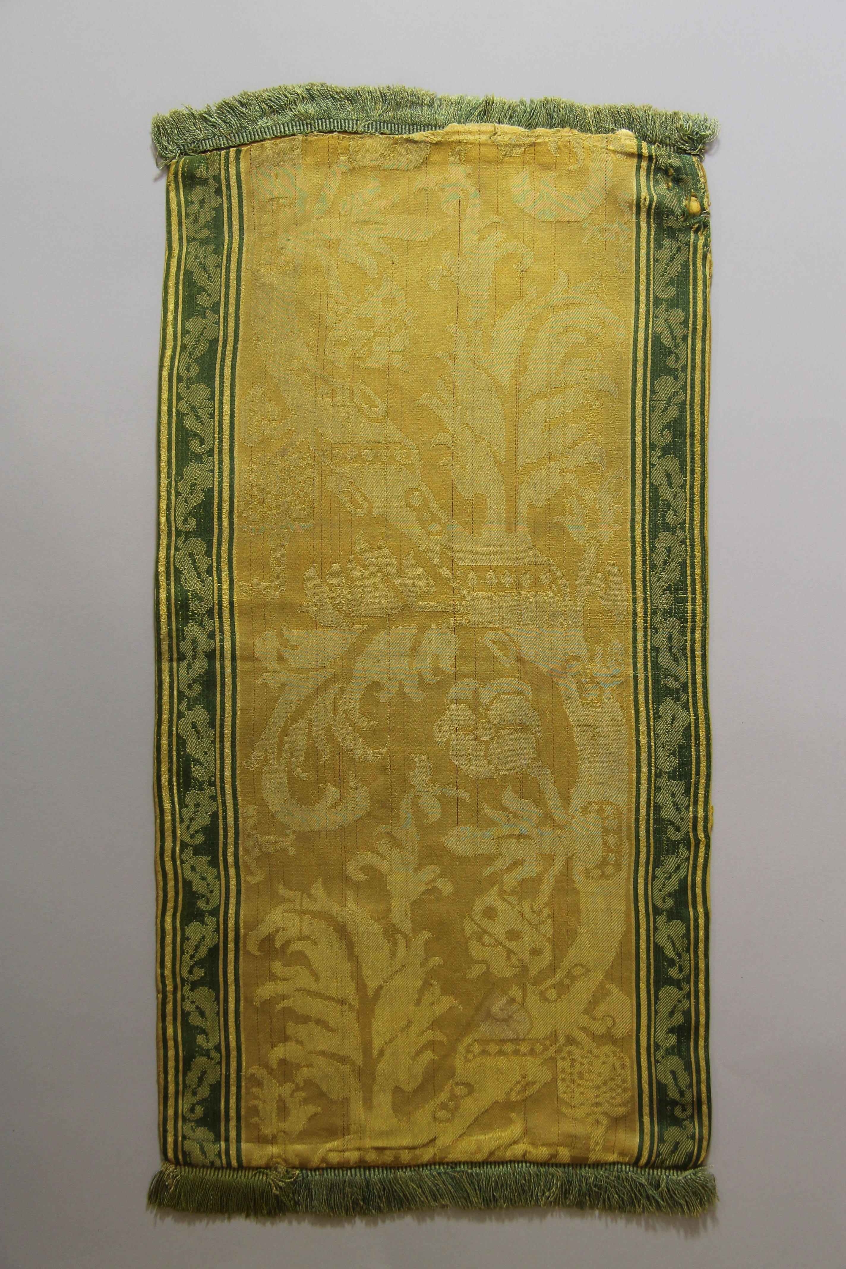 Silk damask panel