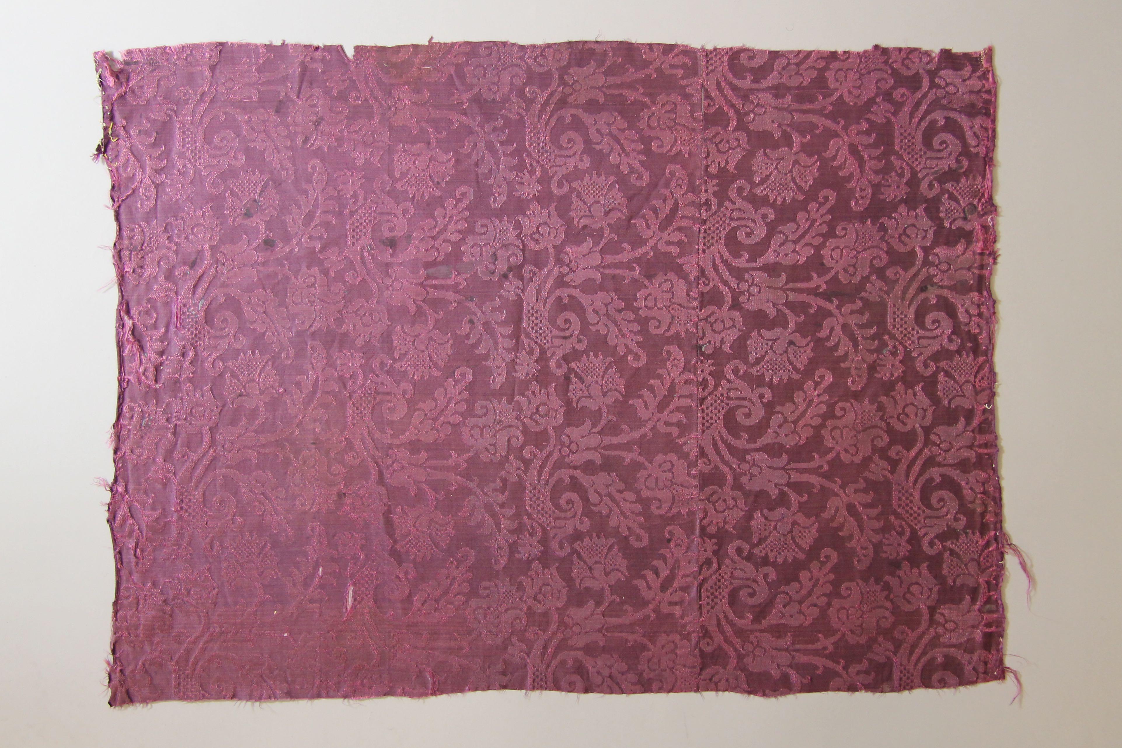 Panel of silk damask (fragment)