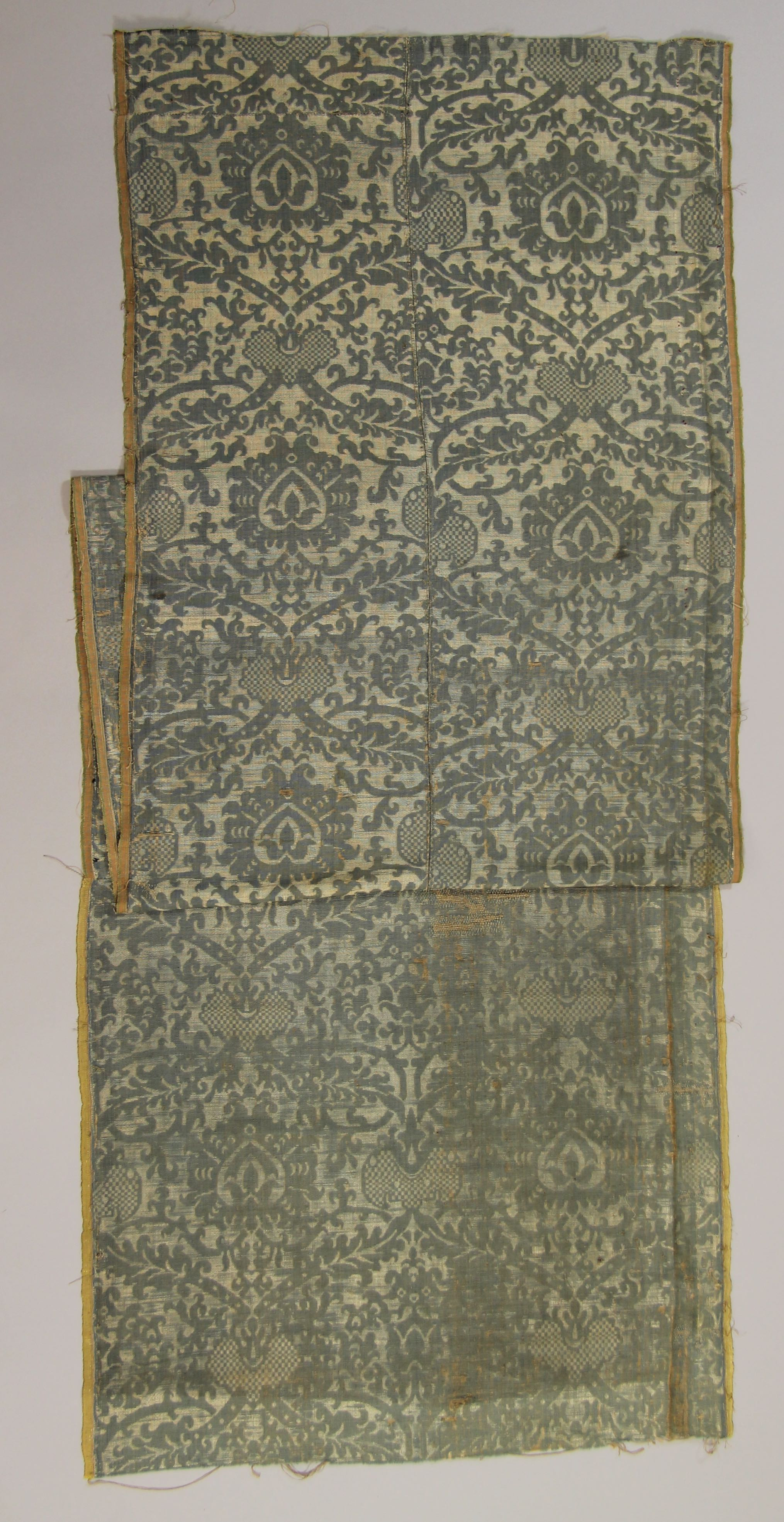Silk brocatelle panel