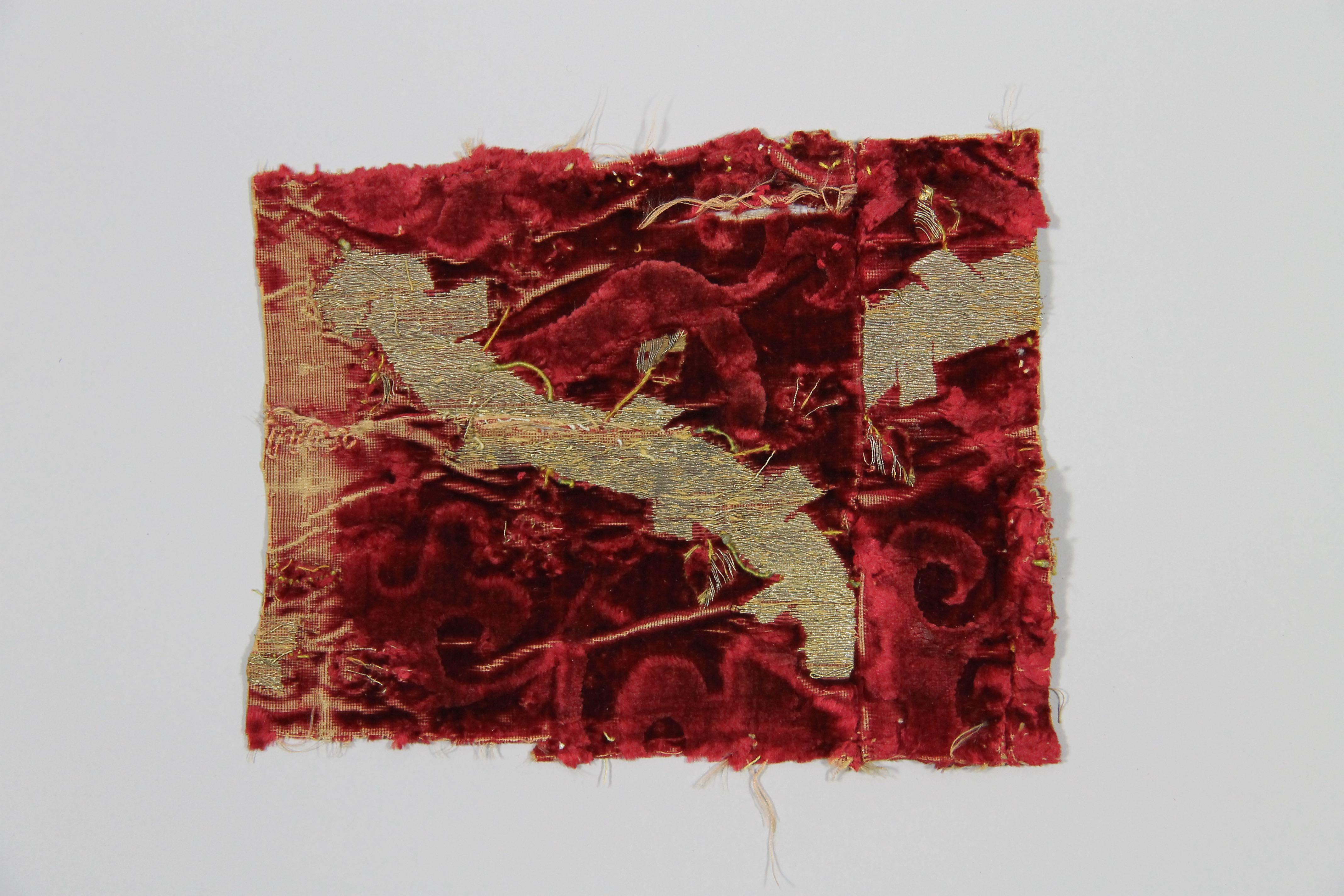 Velvet fabric (fragment)