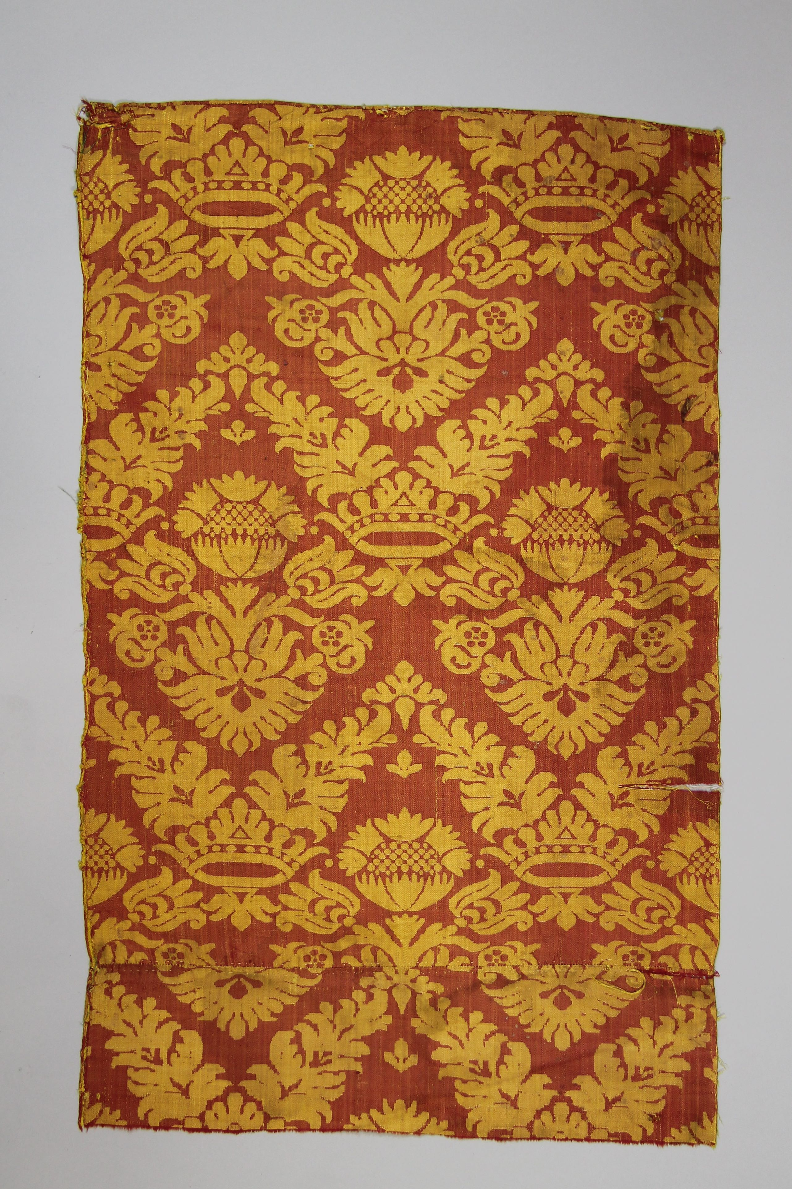 Two pieces of silk damask (fragments)