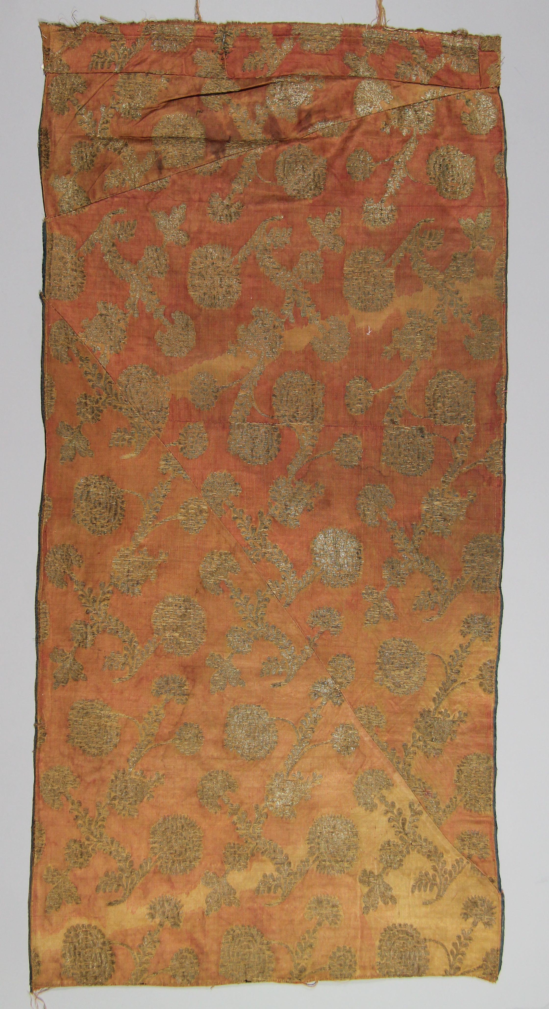 Brocade silk panel