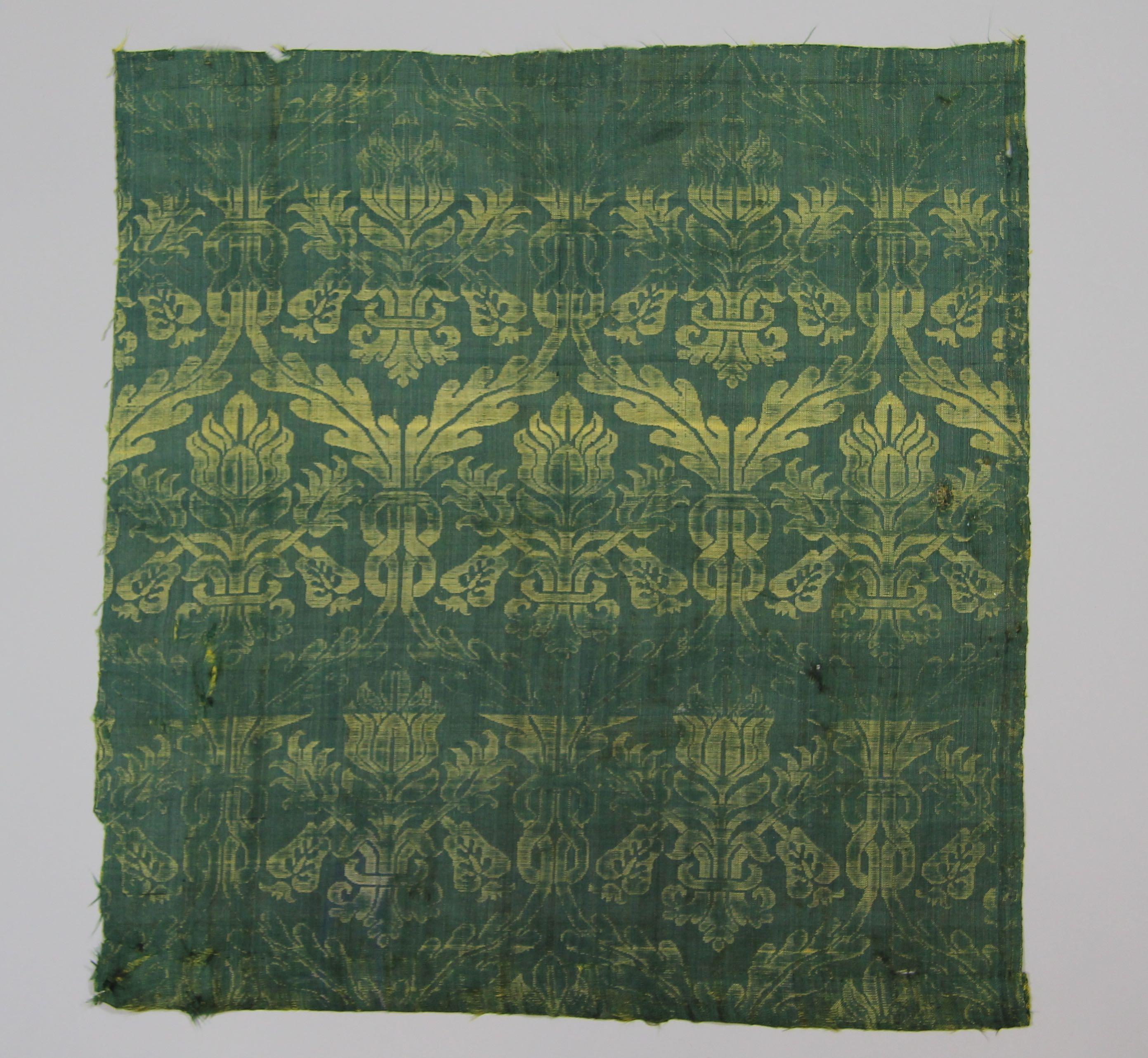 Panel of damask silk (fragment)