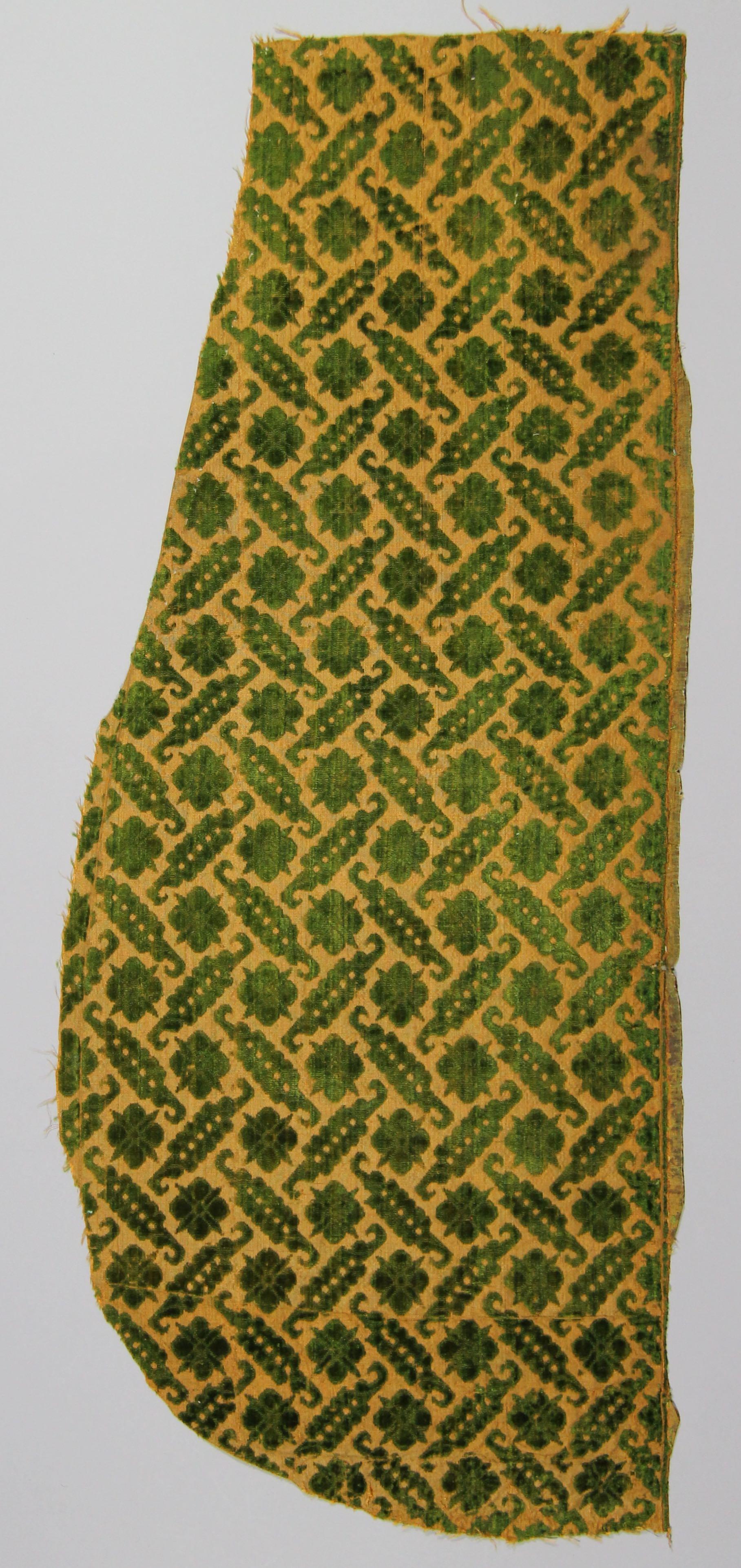 Silk velvet panel (fragment)