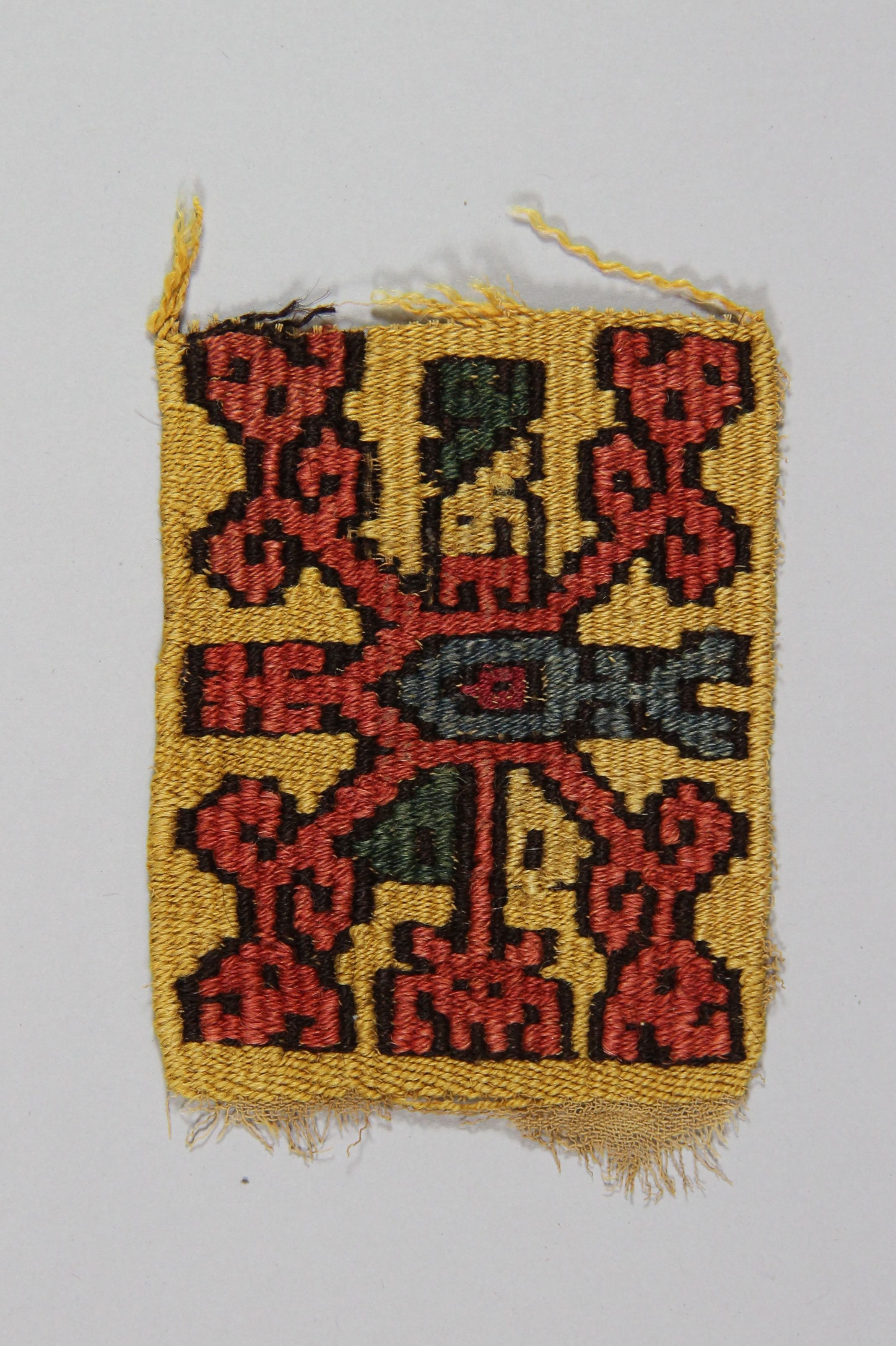 Woven patterned textile (fragment)