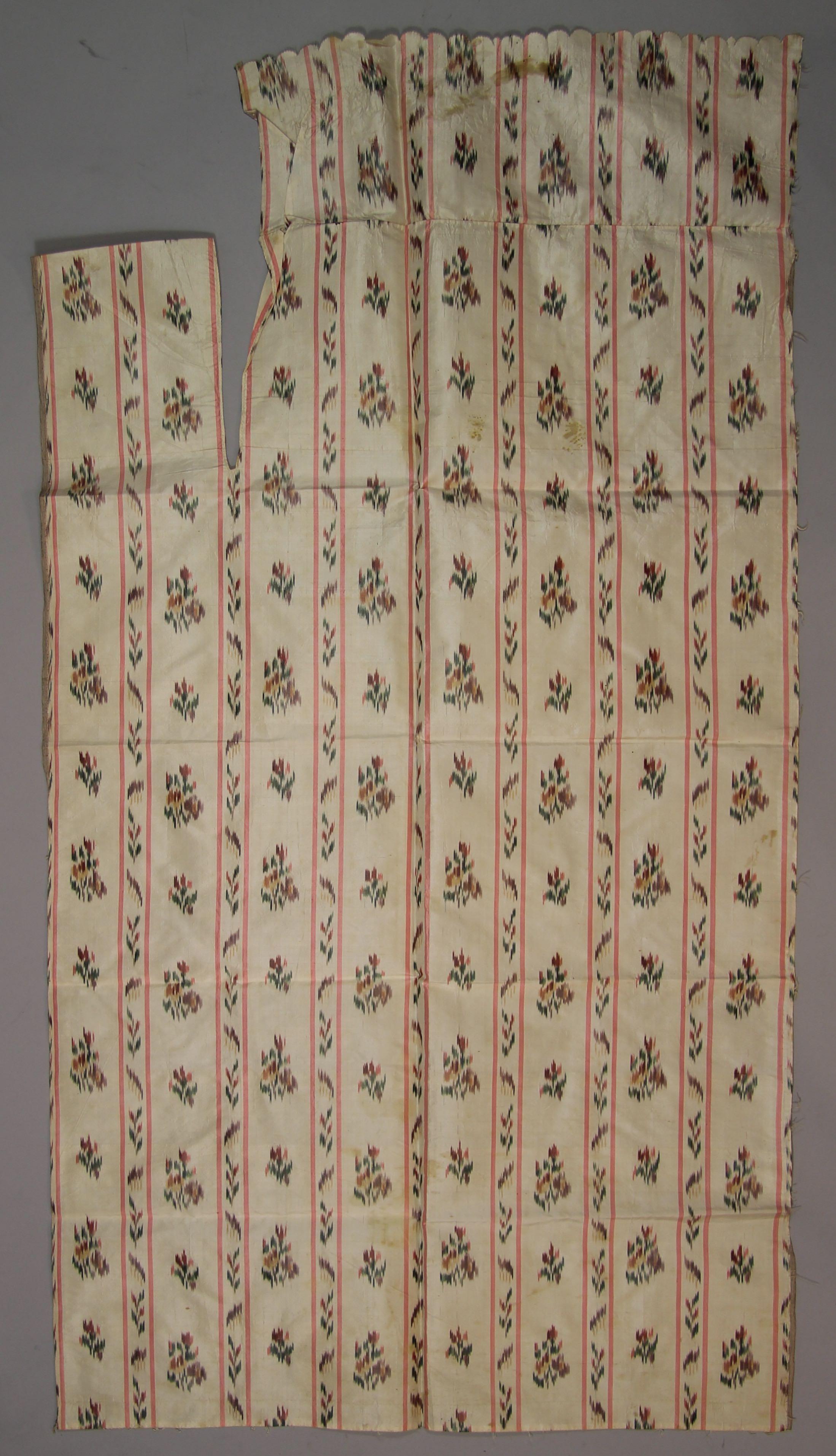 "Woven silk ""chin� � la branche"" ikat (fragment)"