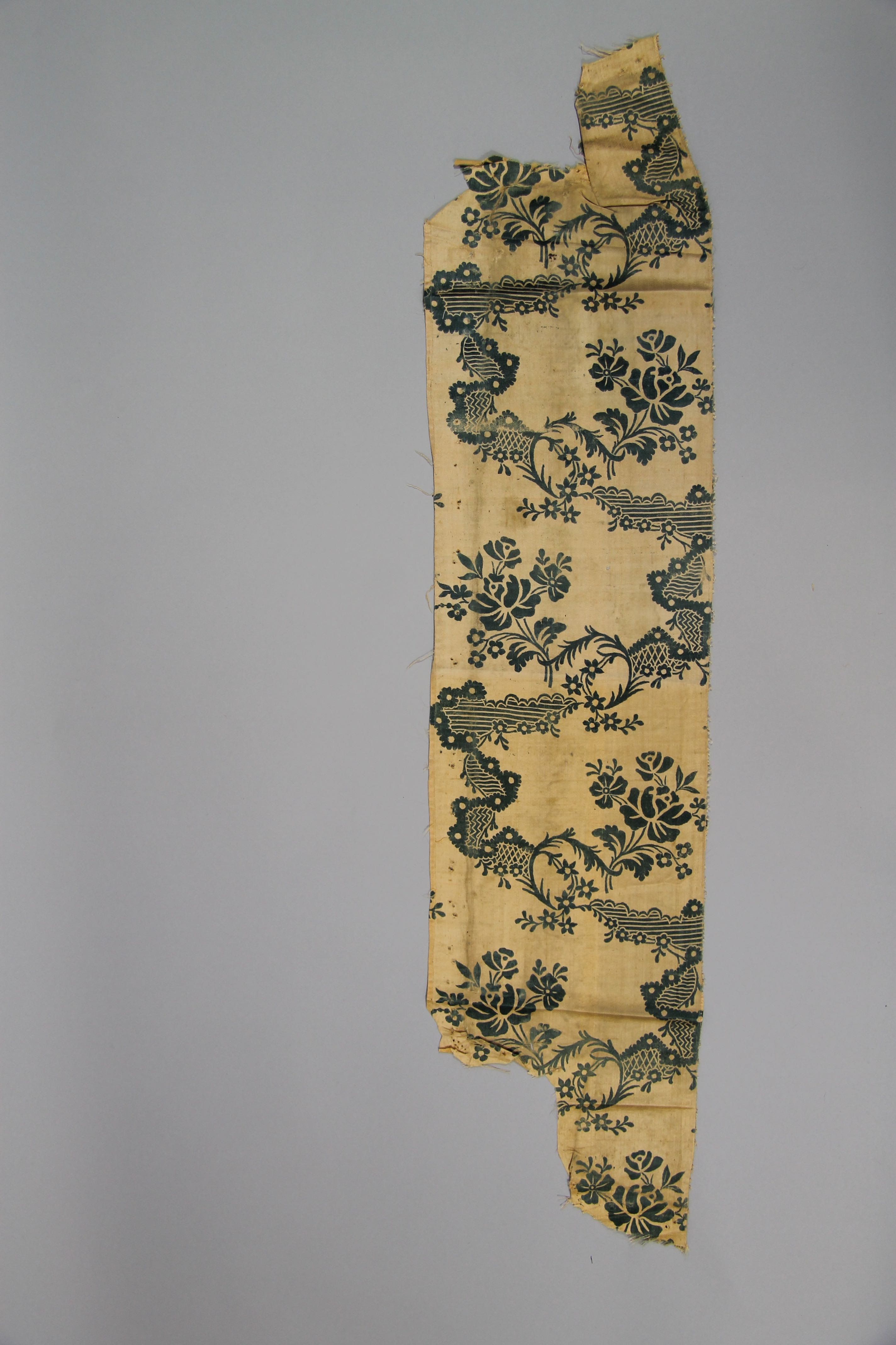 Printed silk (fragment)