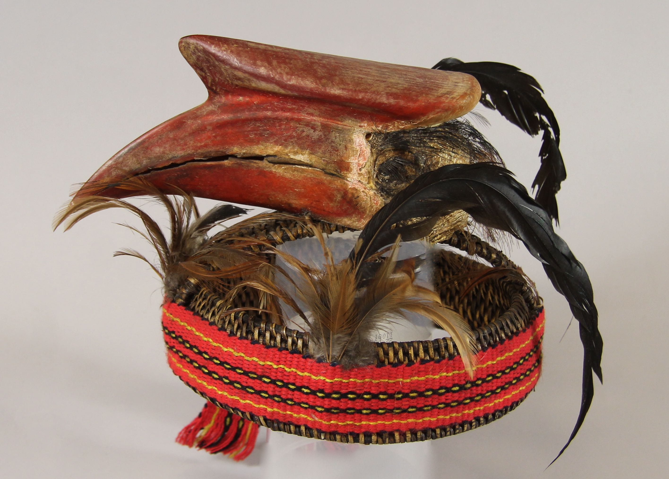 Headdress with bird head