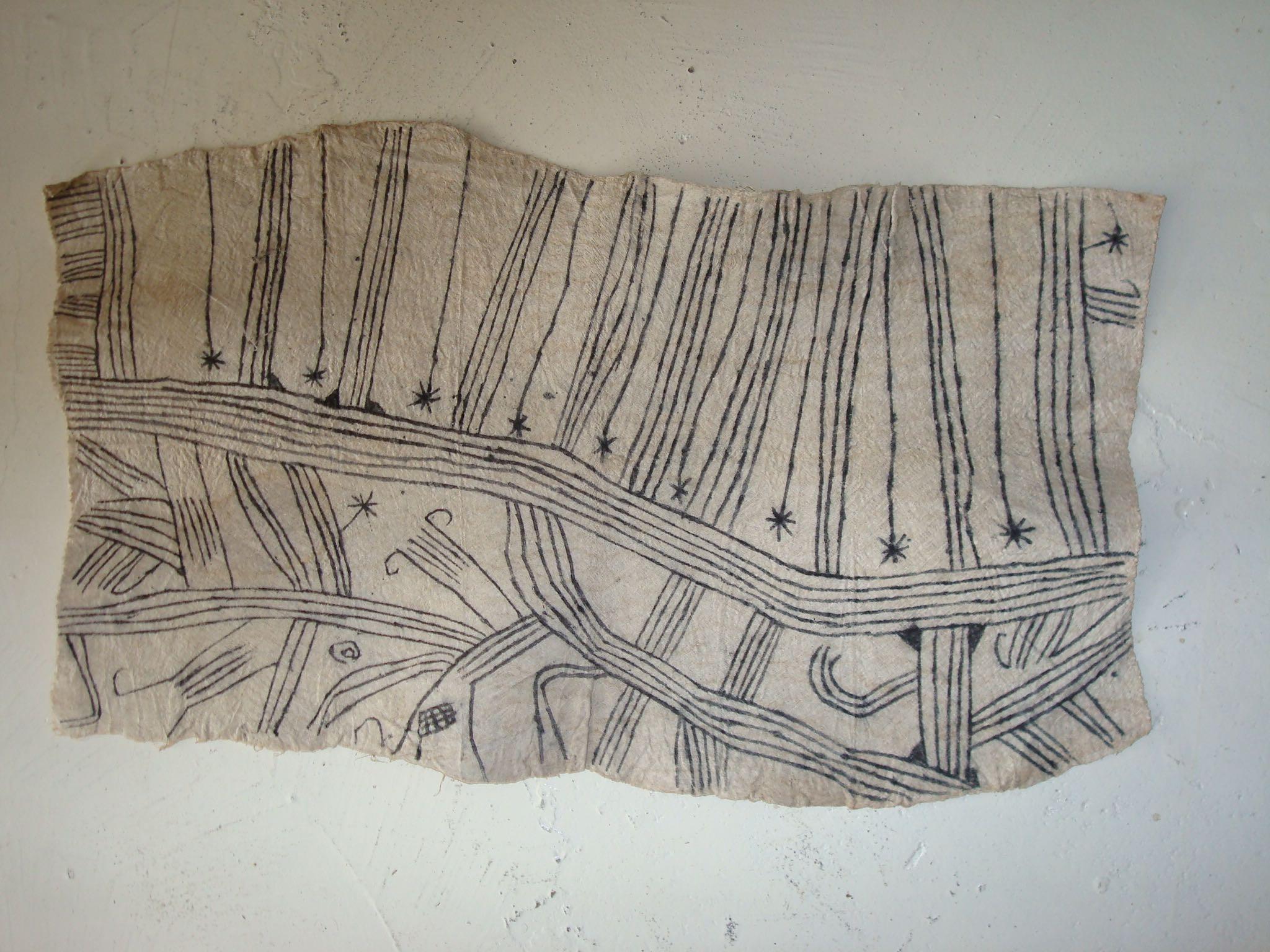 Barkcloth panel