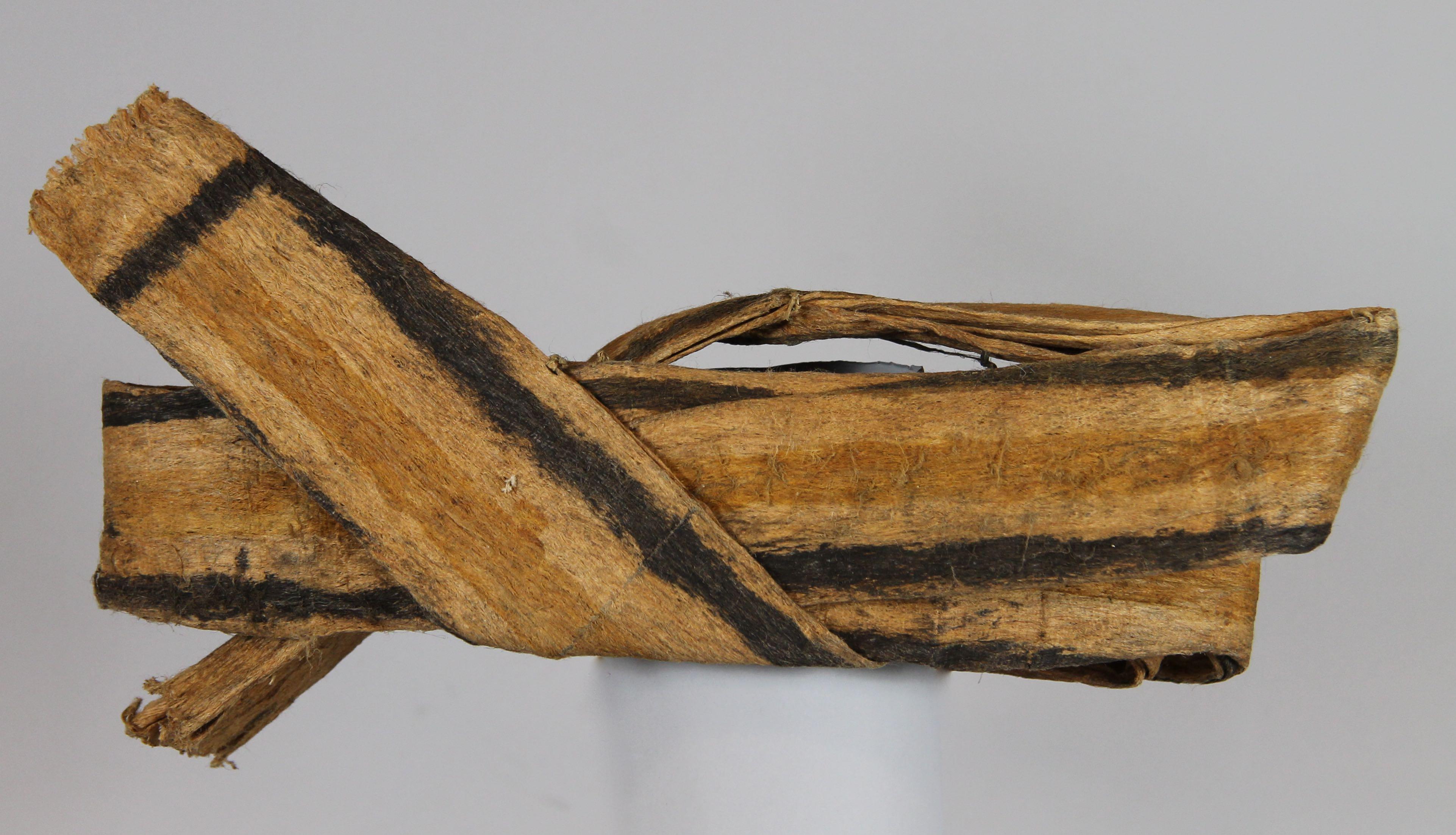 Painted barkcloth (tapa) hat