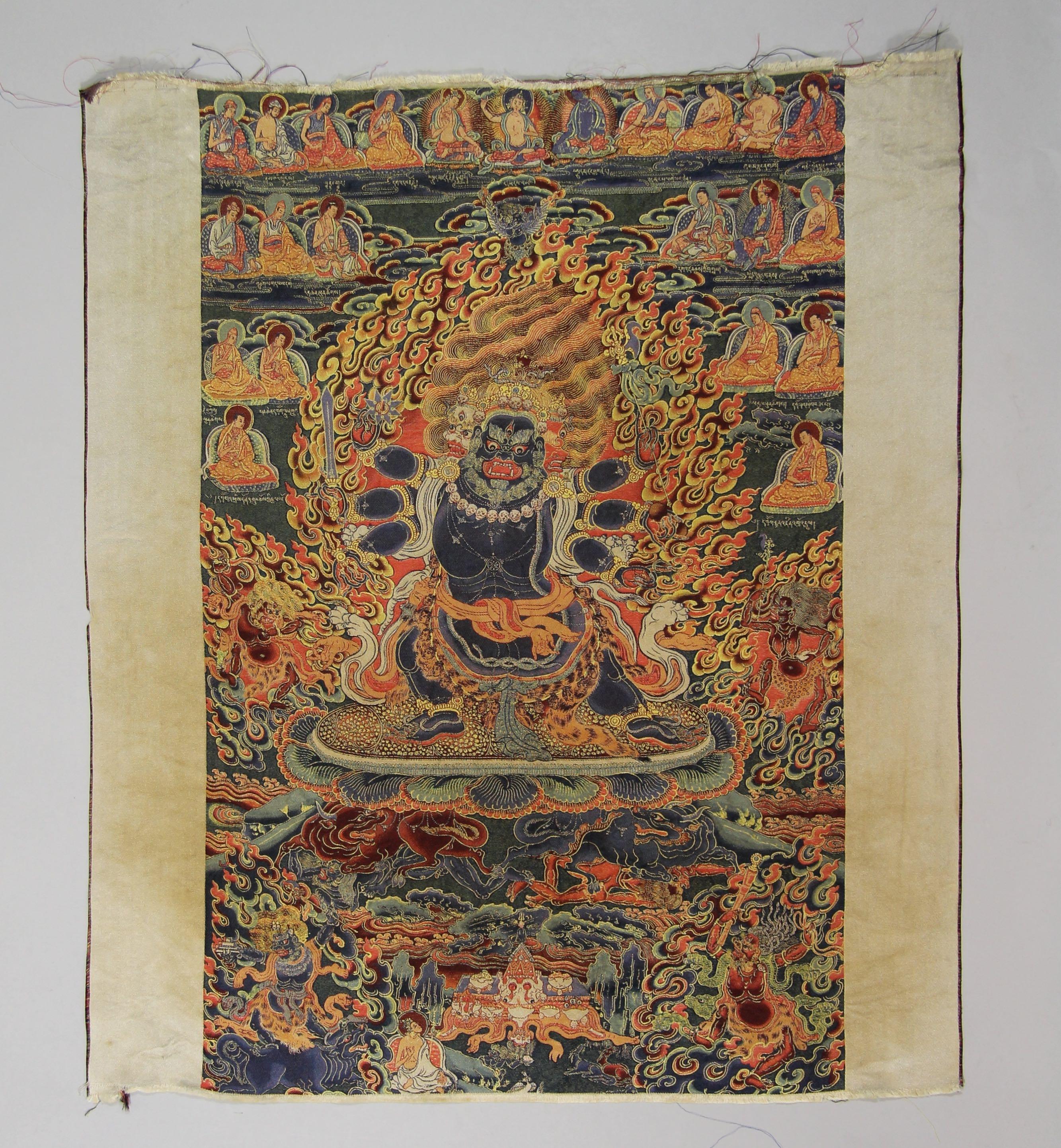 Silk buddhist panel
