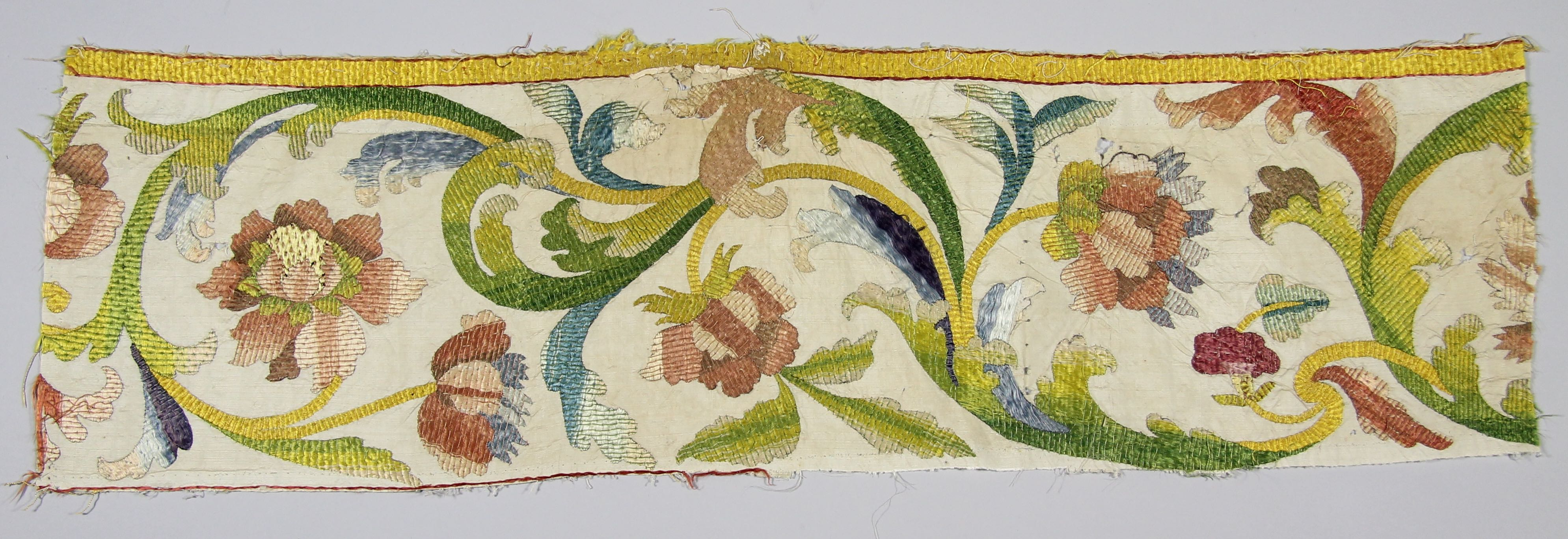 Embroidered silk fragment