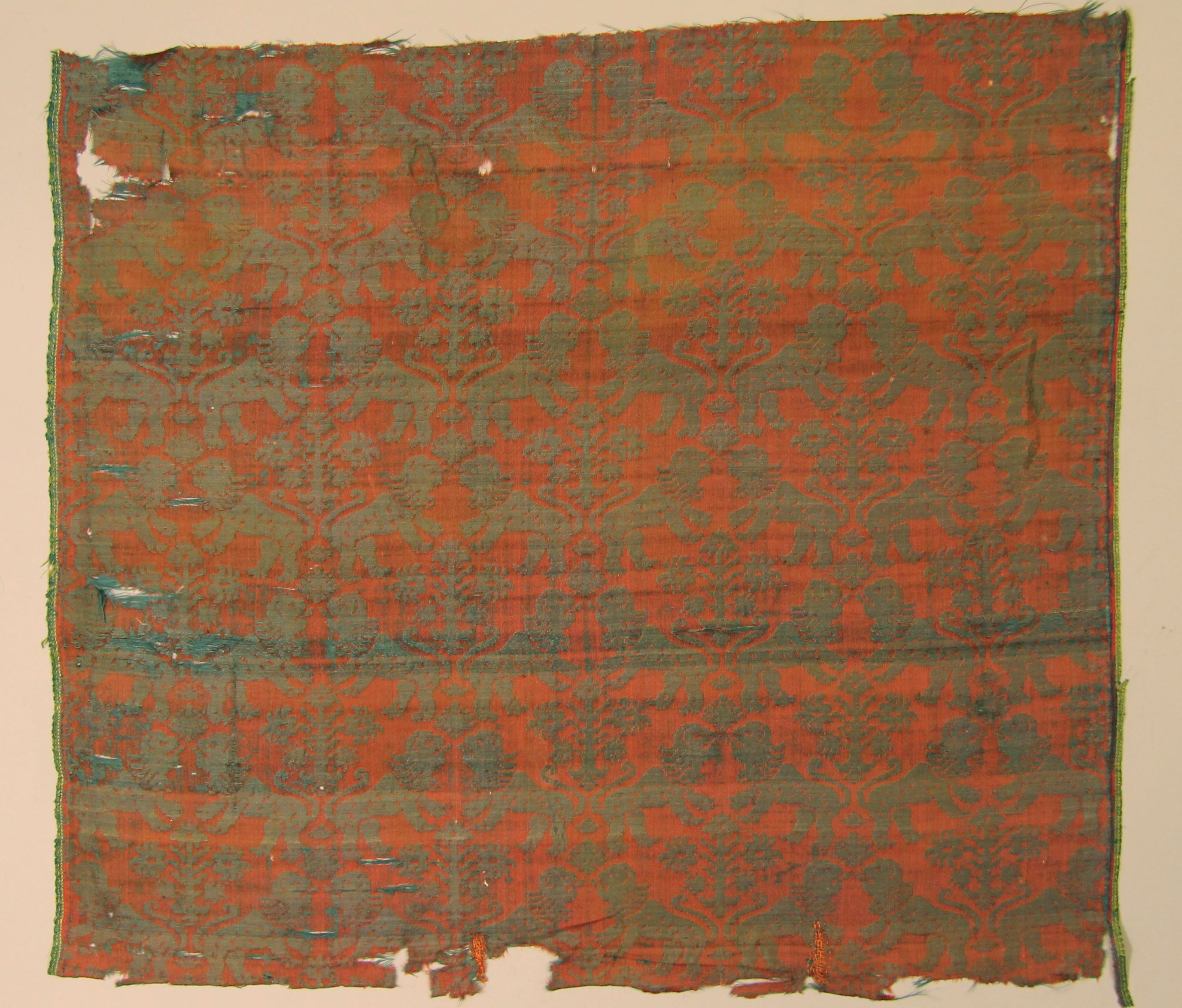 Silk damask (fragment)